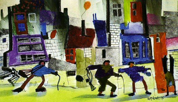 Pension Day at Last by Sue Howells - art print