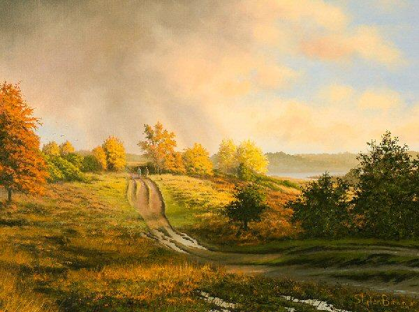 Passing Storm by Stephen Brown - landscape art print