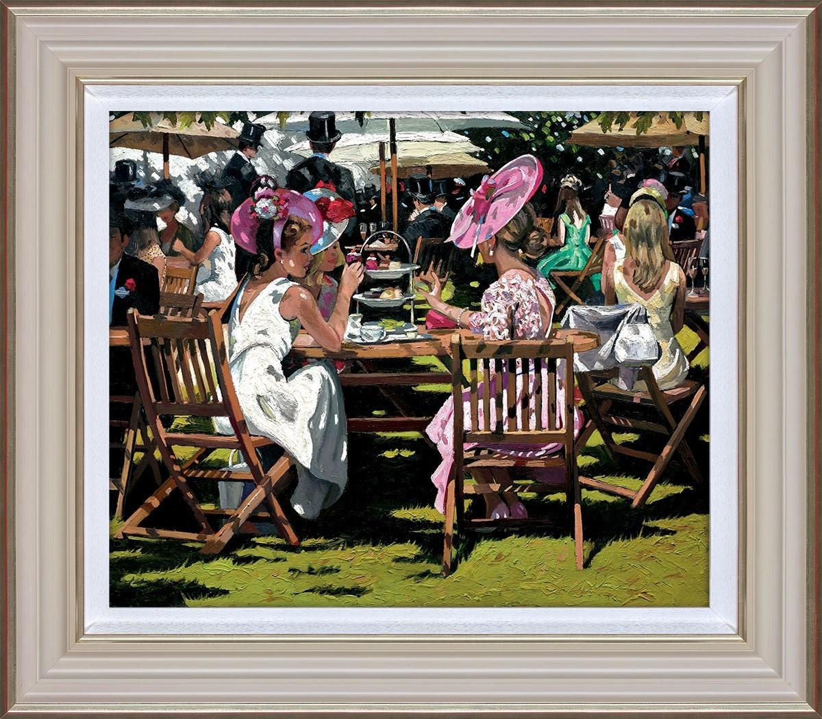 Afternoon Tea at Ascot by Sherree Valentine Daines - art print ZDAI268