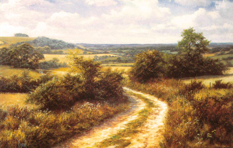 Byway by David Dipnall - landscape art print