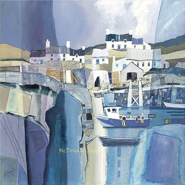 Fishing Village I by Gillian McDonald - landscape art print
