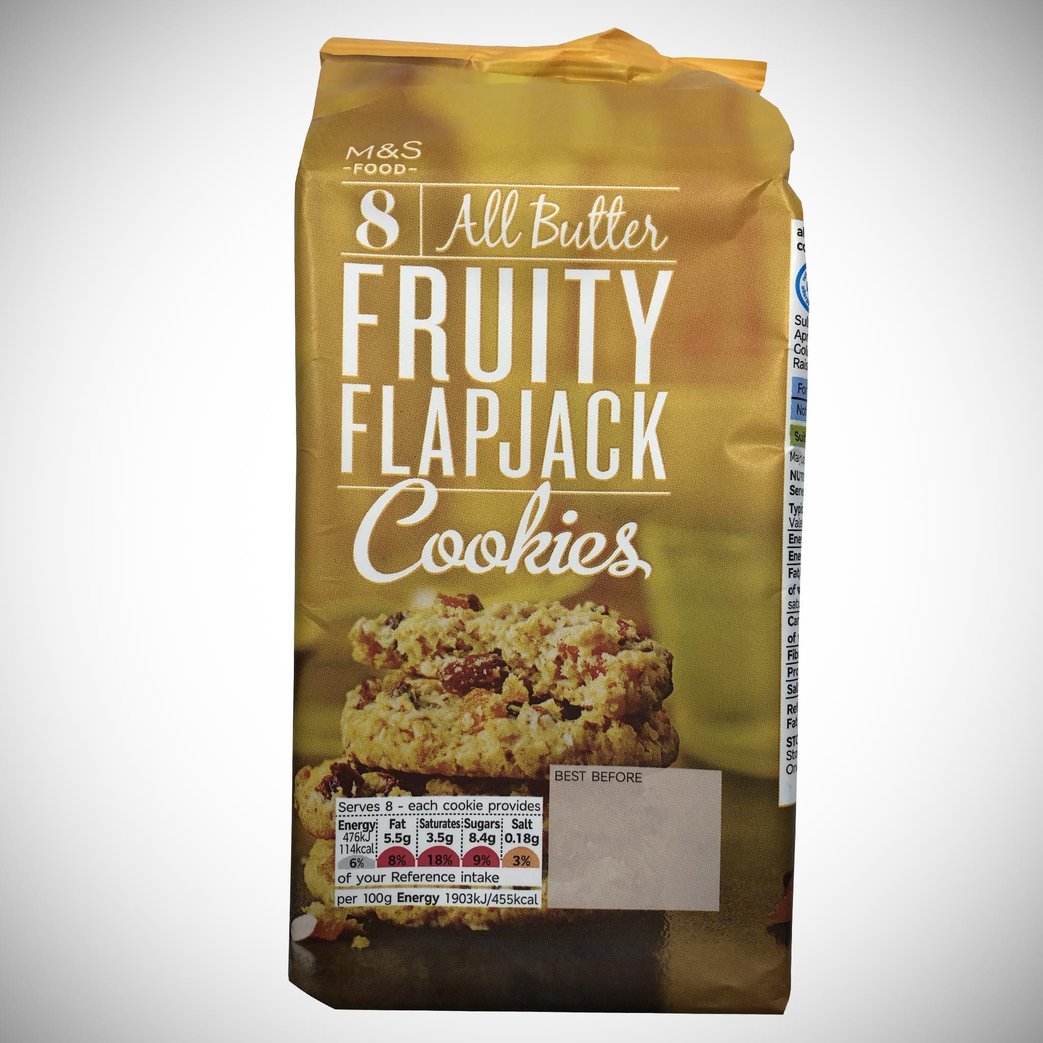 8 All Butter Fruity Flapjack Cookies 200g