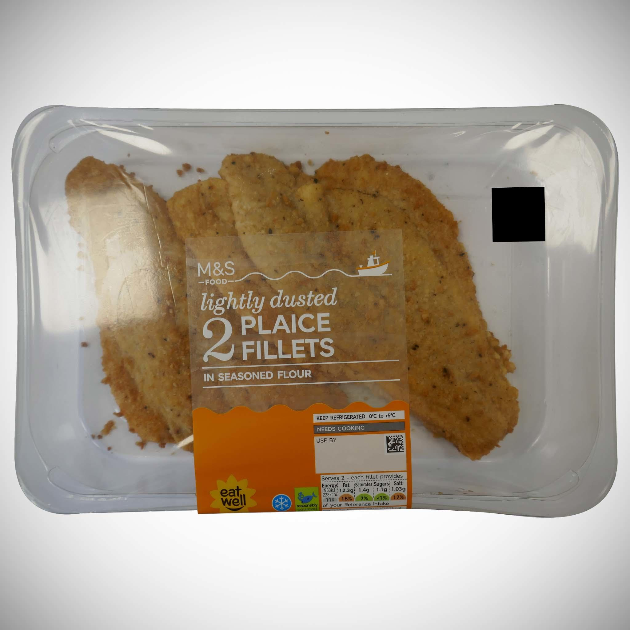 2 Lightly Dusted Plaice Fillets 280g