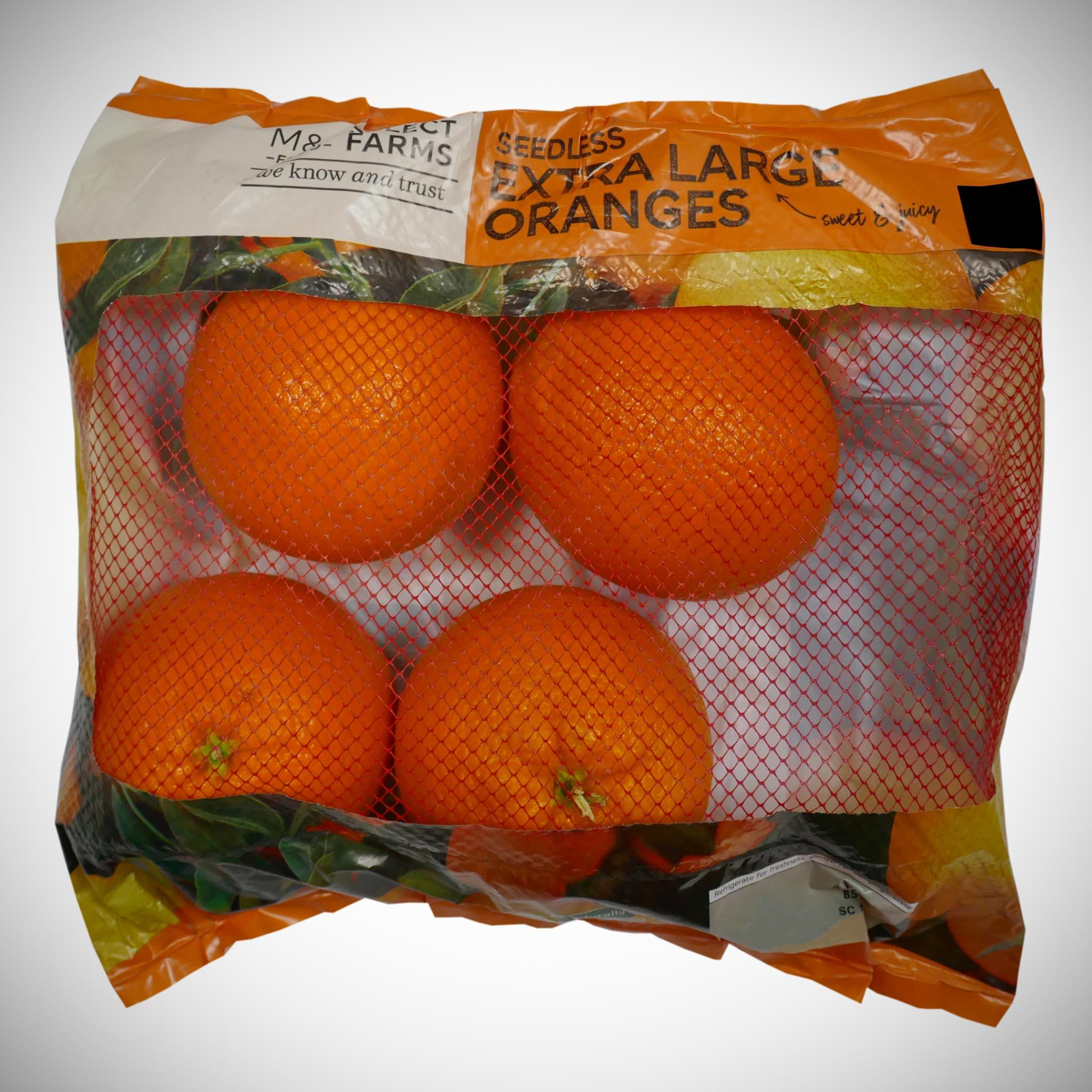 Seedless Extra Large Oranges x 4