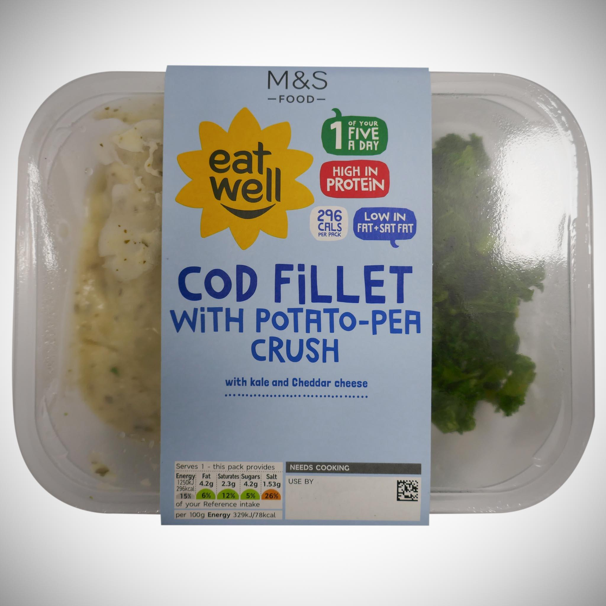 'Eat Well' Cod Fillet with Potato-Pea Crush 380g