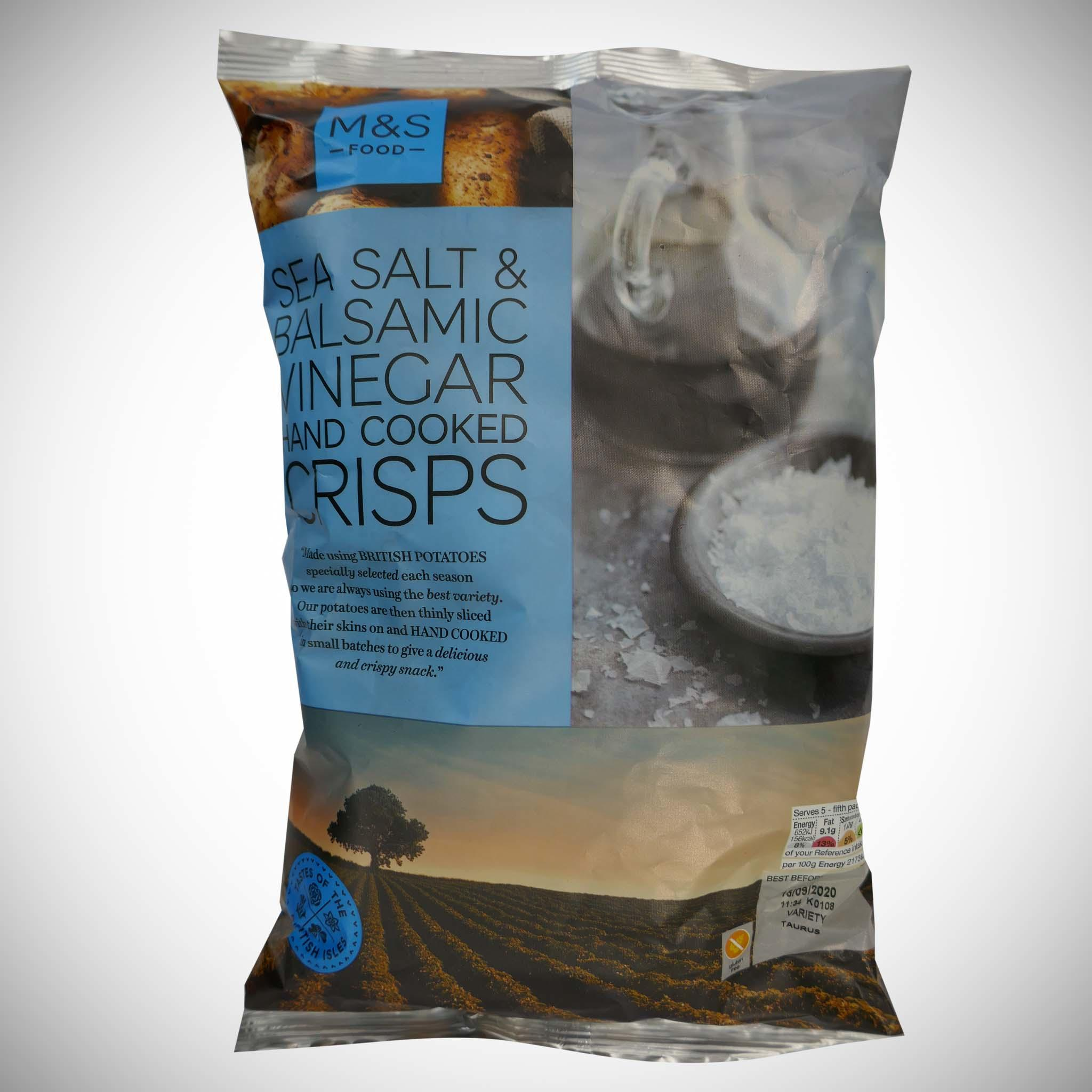 Sea Salt & Vinegar Handcooked Crisps