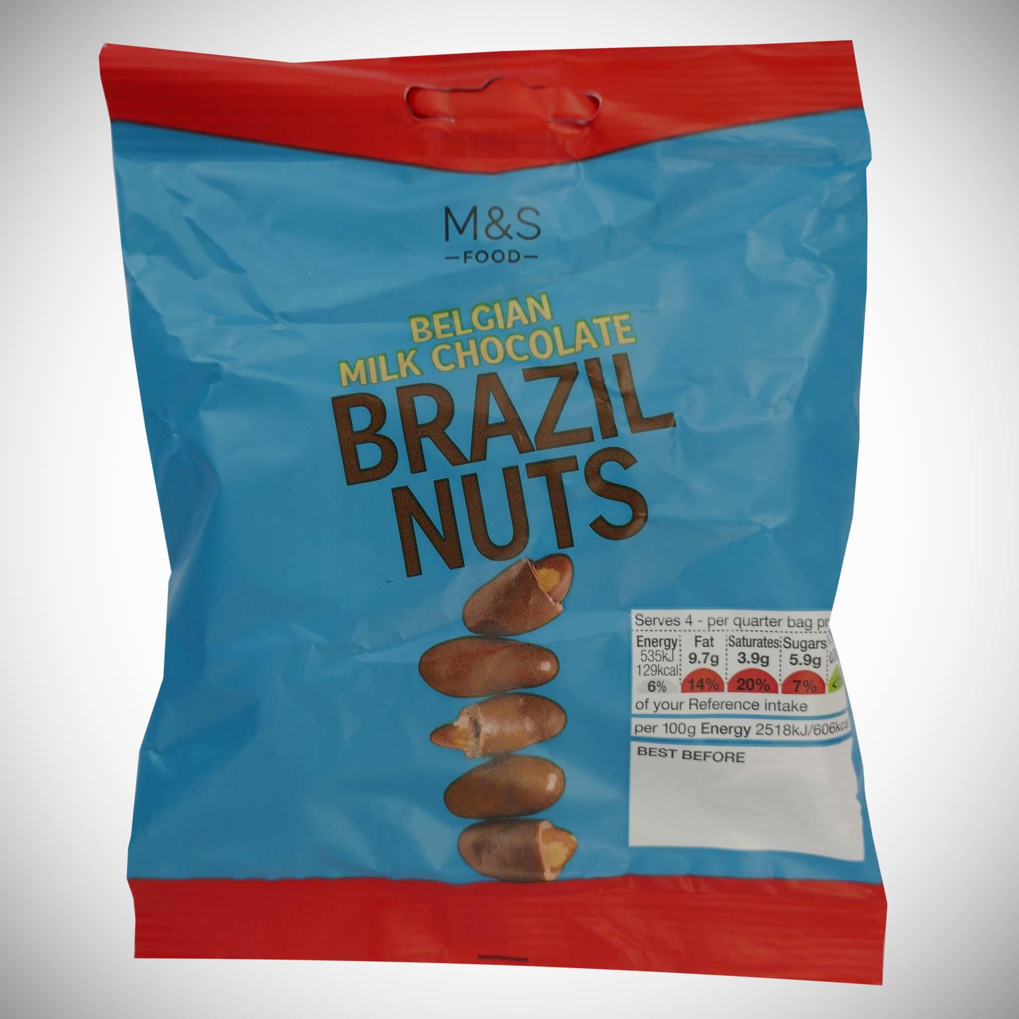 Belgian Milk Chocolate Covered Brazil Nuts 85g