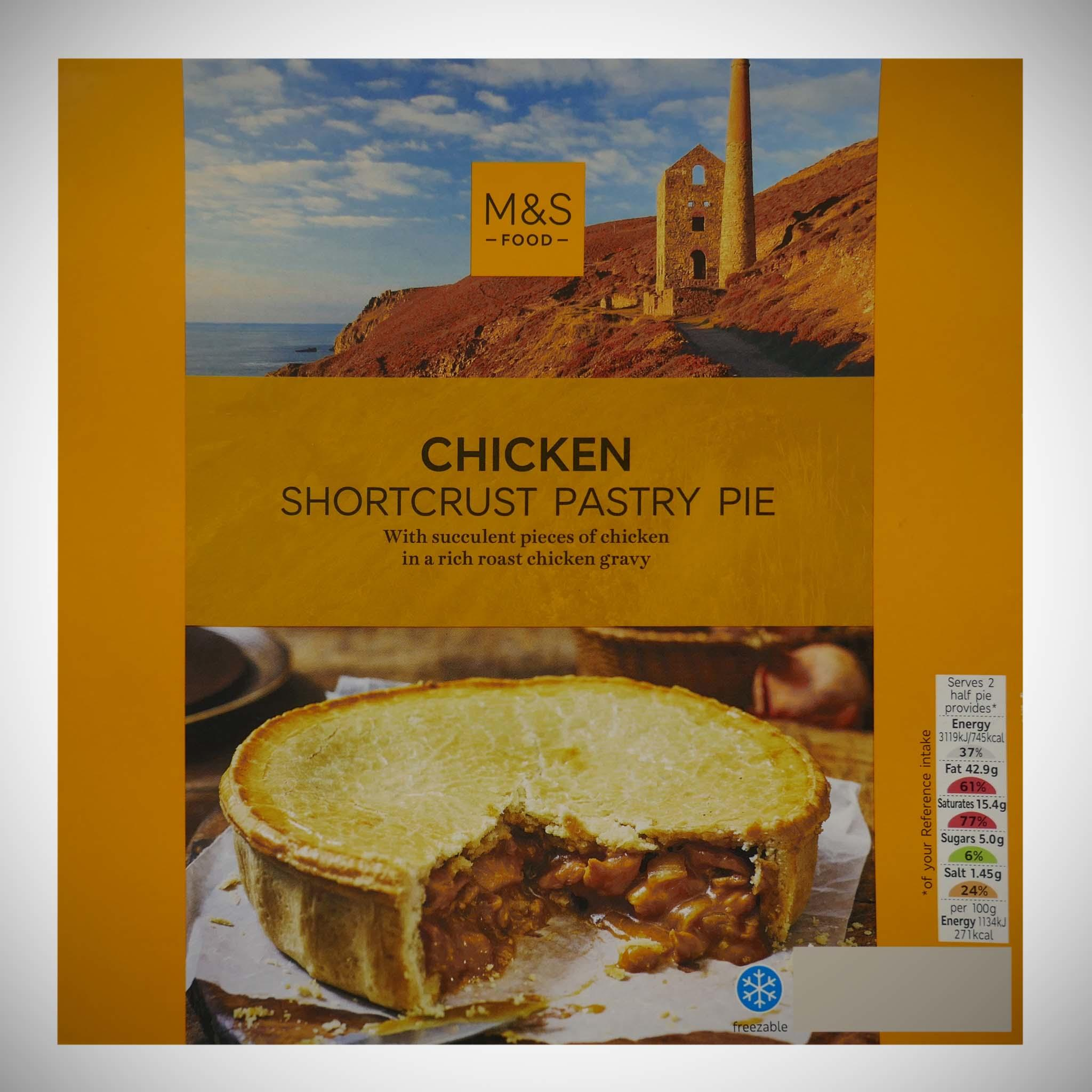 British Shortcrust Pastry Chicken Pie 550g