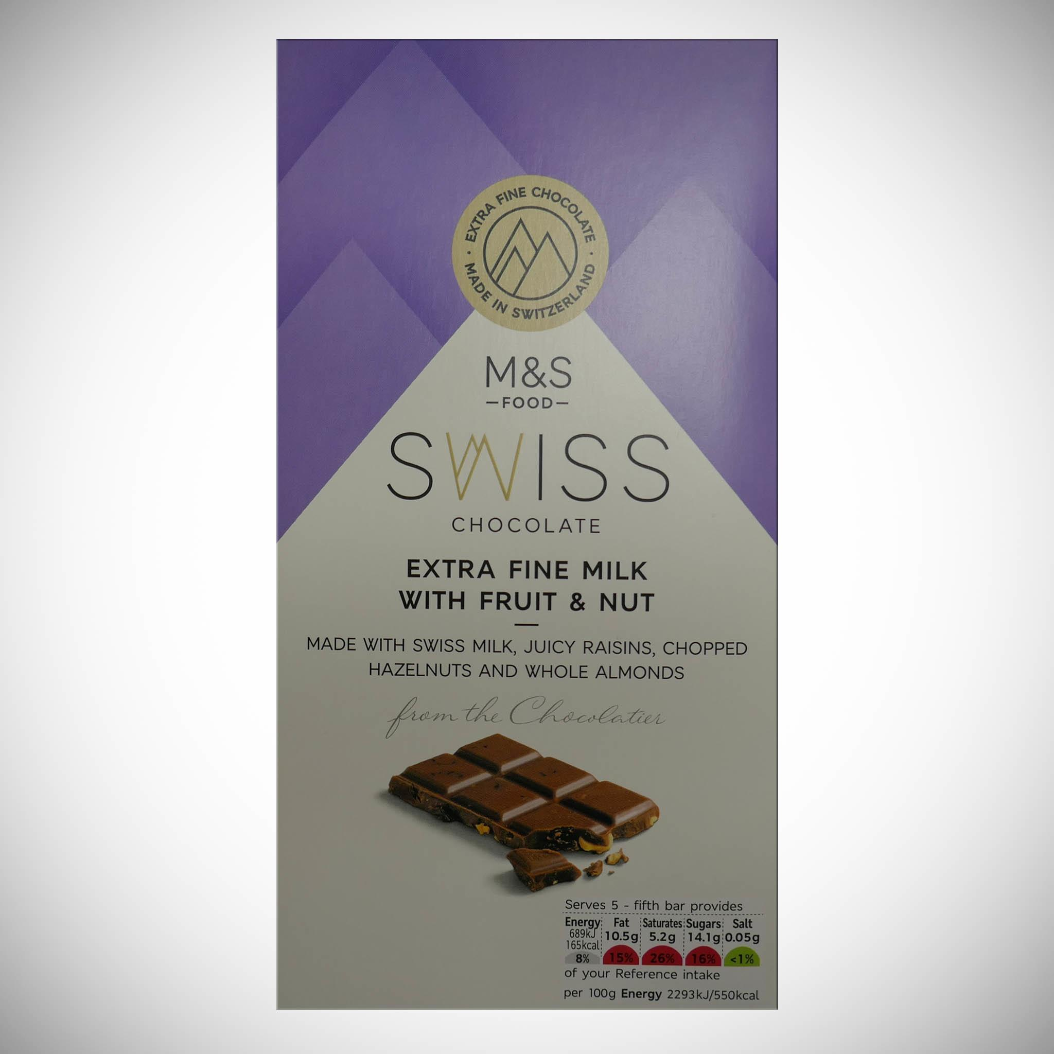 Swiss Chocolate Milk with Fruit & Nuts 150g