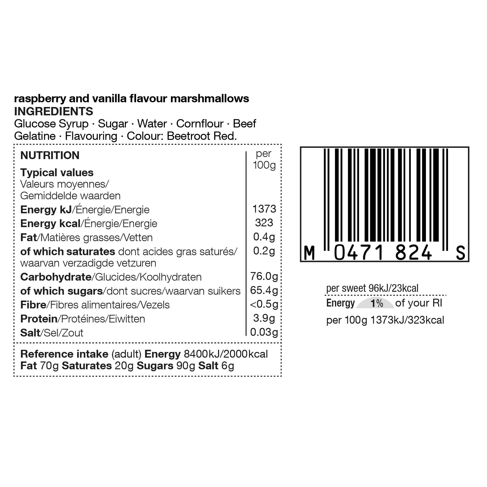 Marshmallows 180g Label
