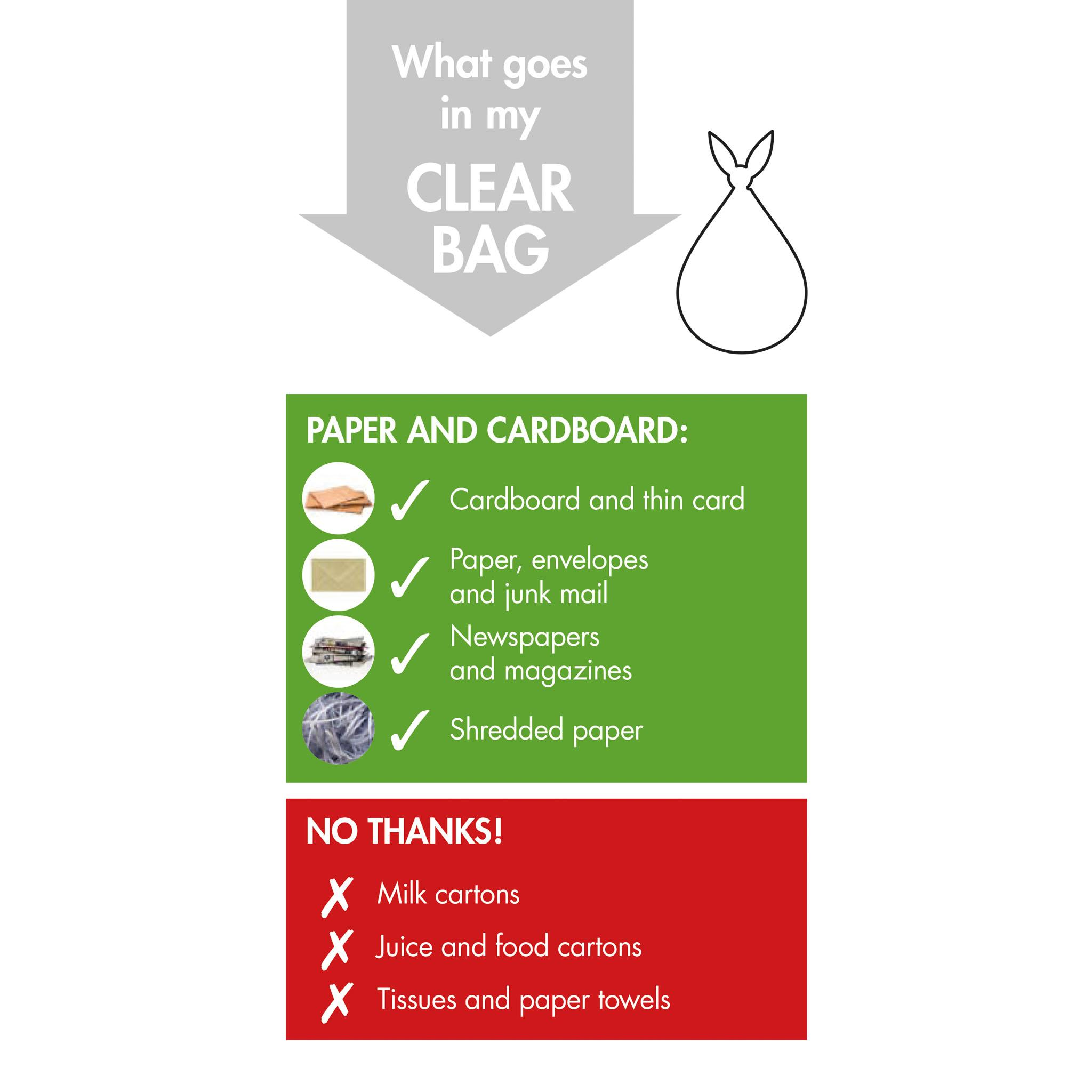 Roll of Clear Recycling Bags x 1 Info