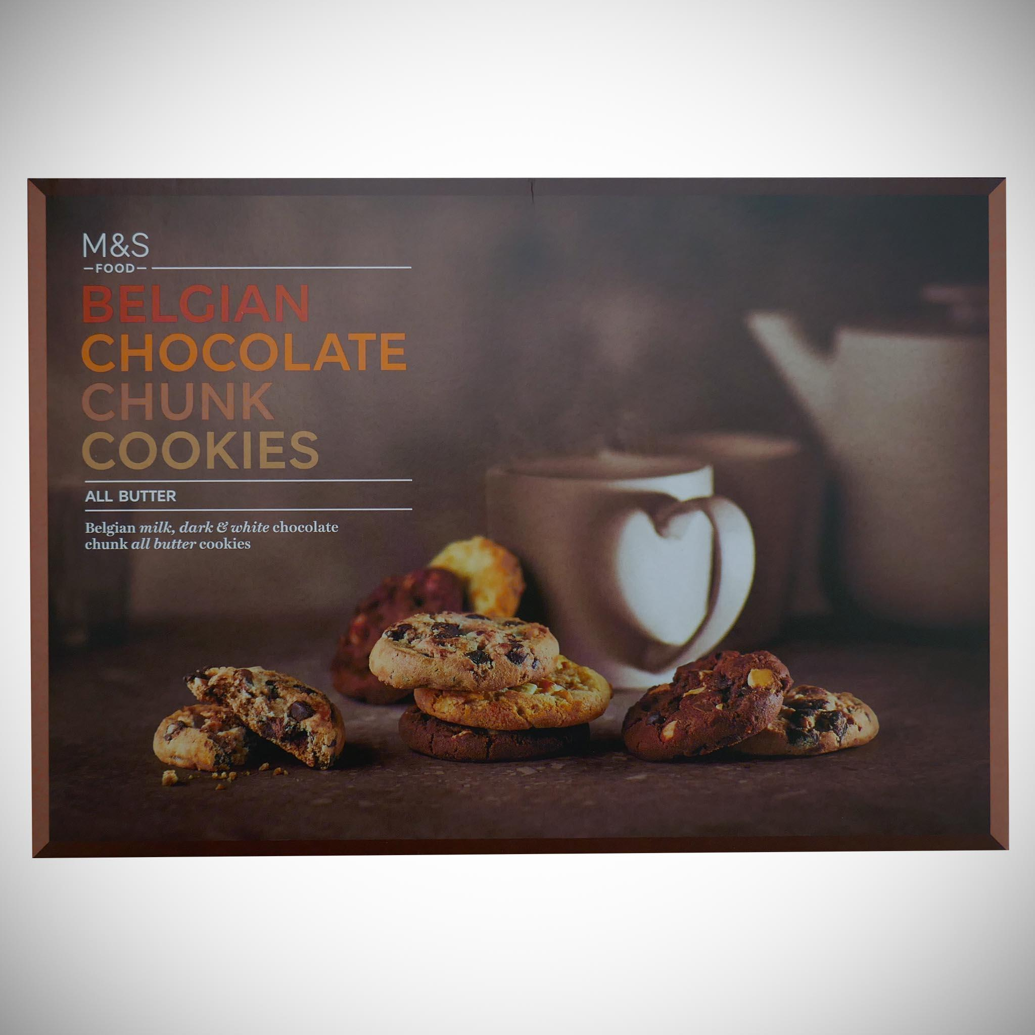 Belgian Chocolate Chunk Cookies Carton 500g