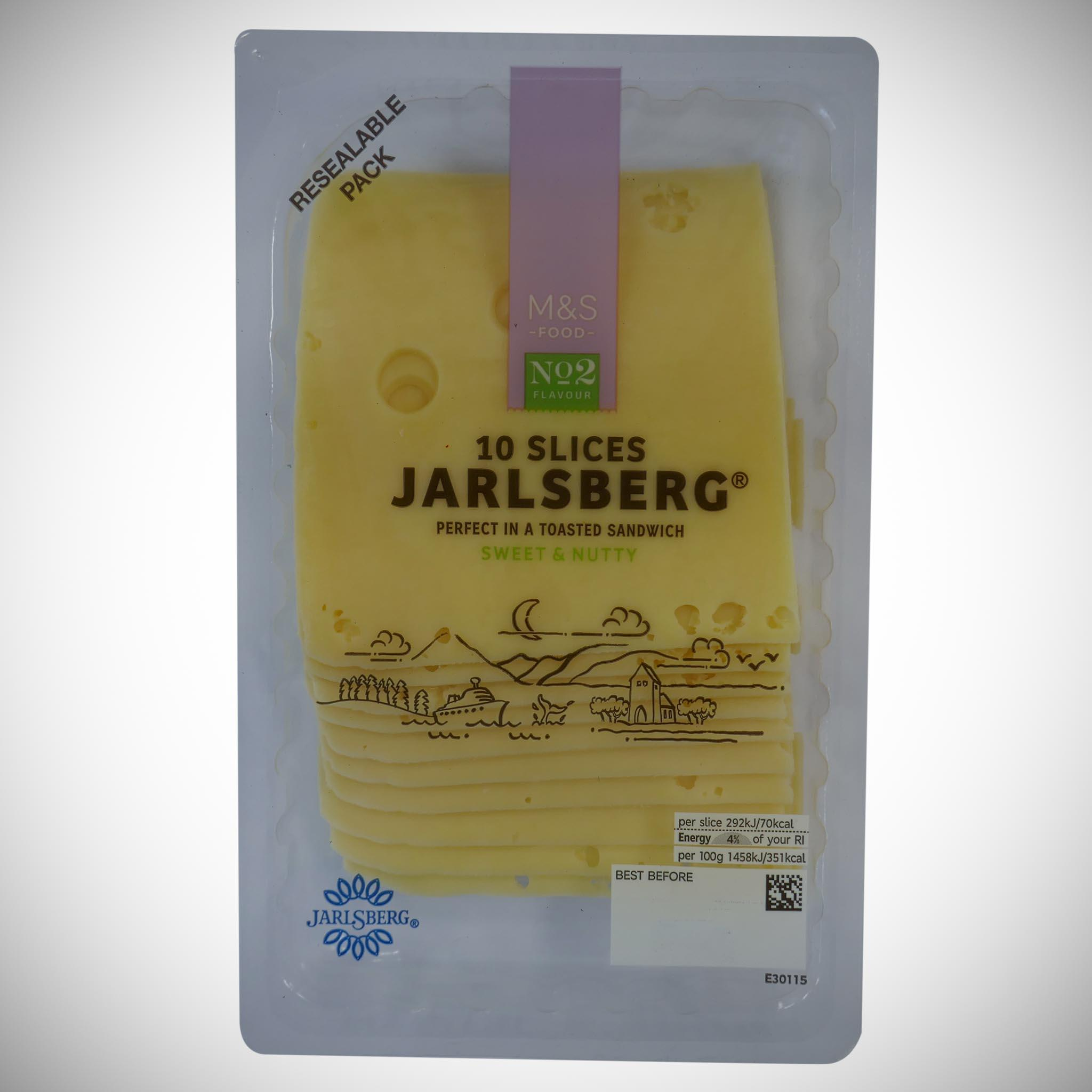 Sliced Jarlsberg