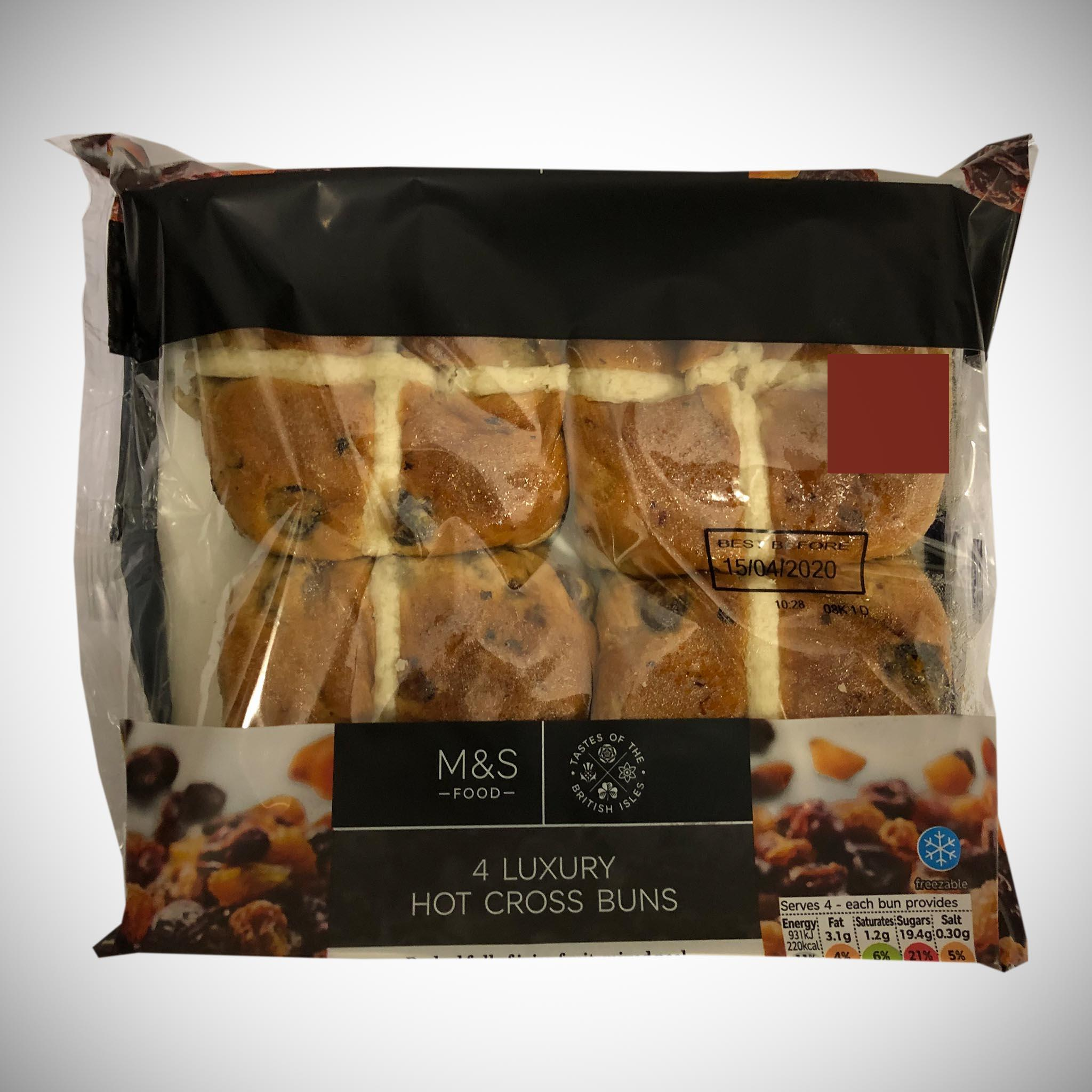Luxury Hot Cross Buns x 4