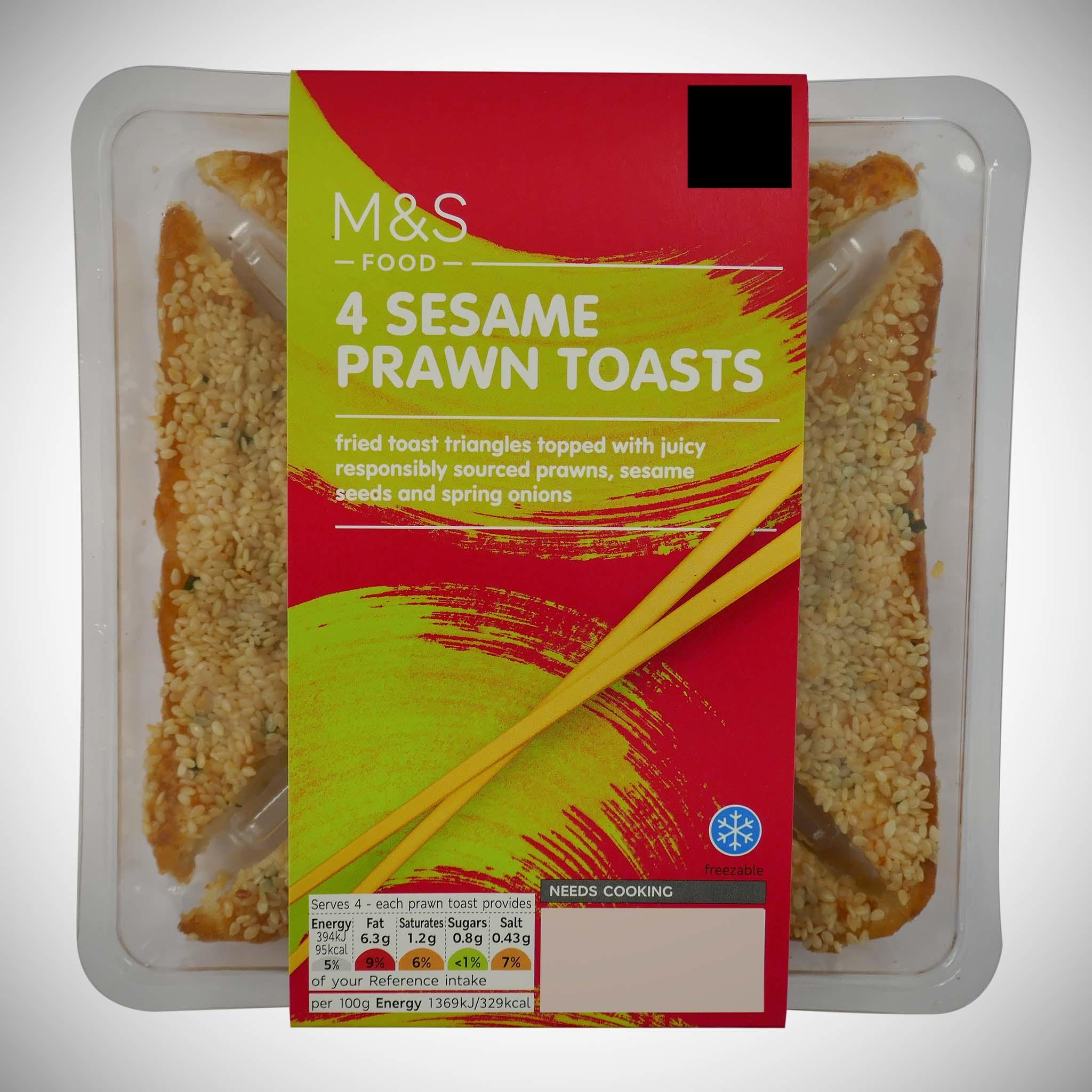 4 Sesame Prawn Toasted Triangles