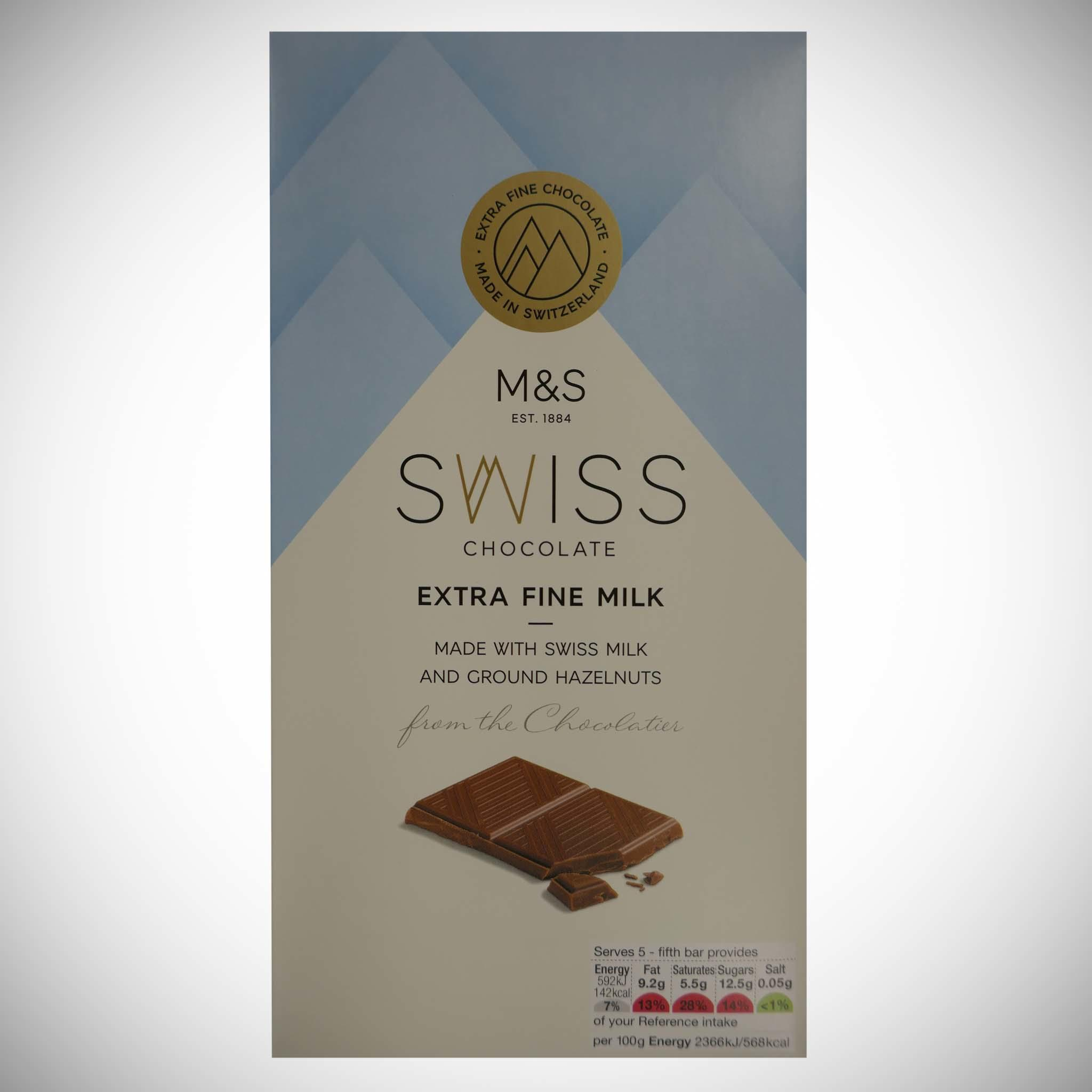 Swiss Chocolate Extra Fine Milk 125g
