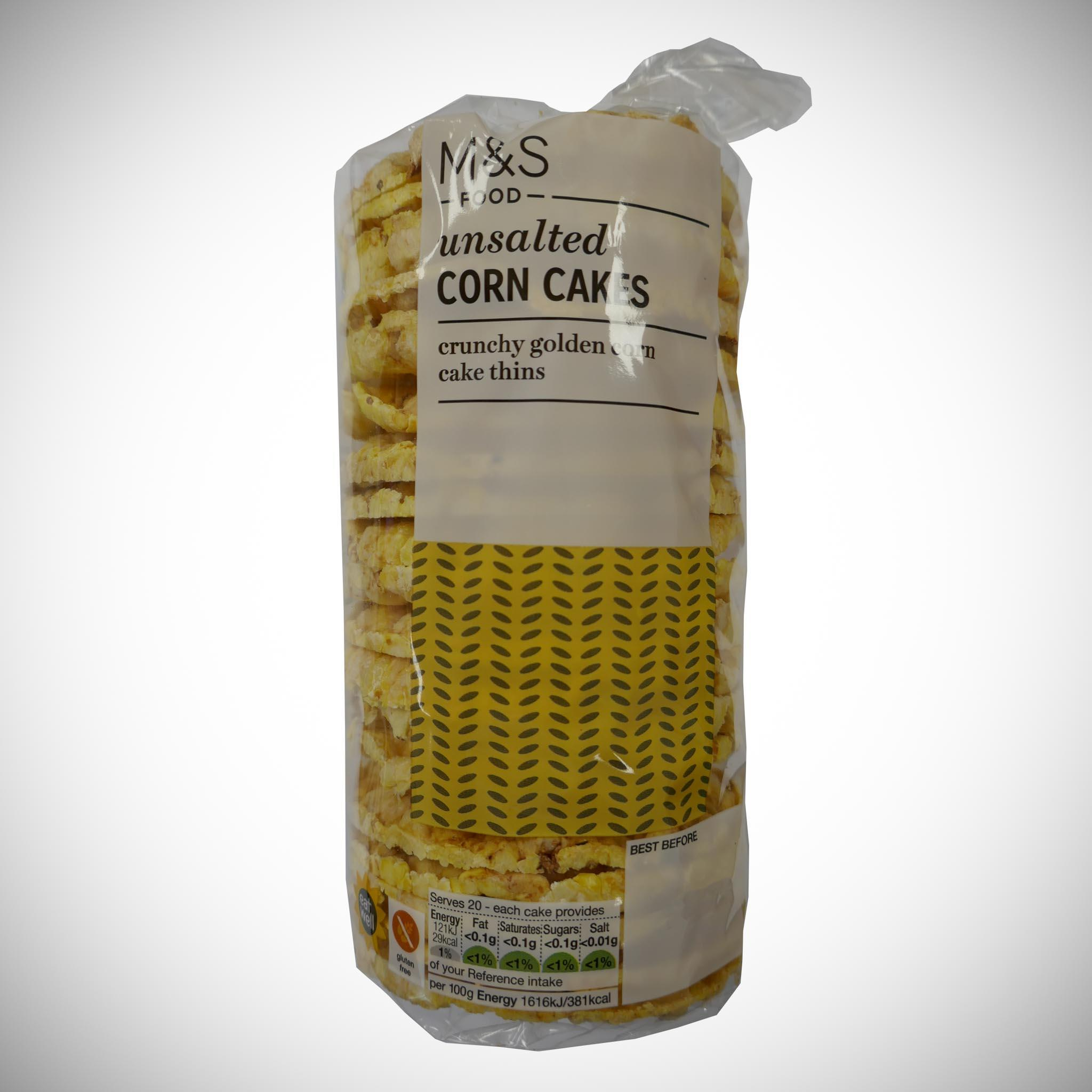 Unsalted Corn Cakes 150g