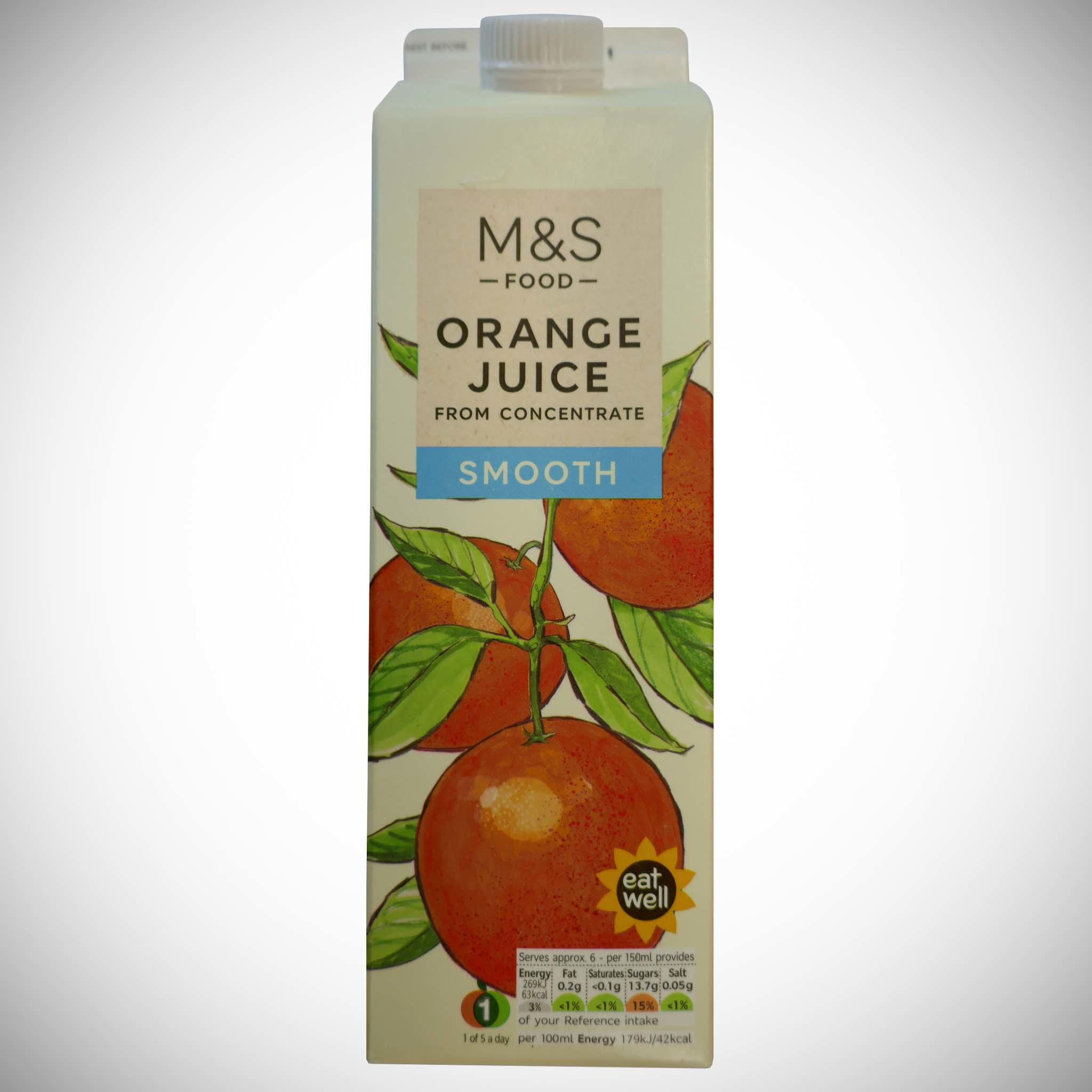 Smooth Orange Juice (From Concentrate) 1 litre