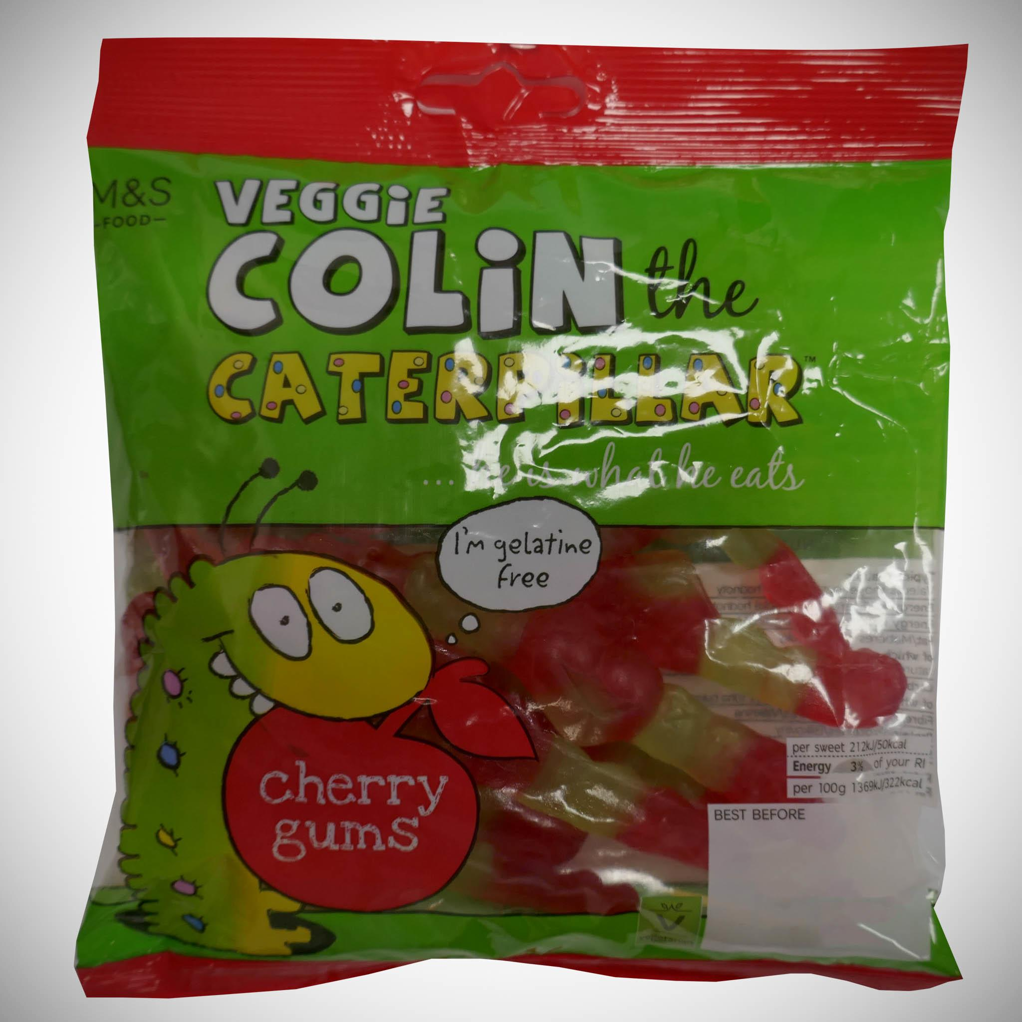 Veggie Colin the Caterpillar Cherry Gums 170g