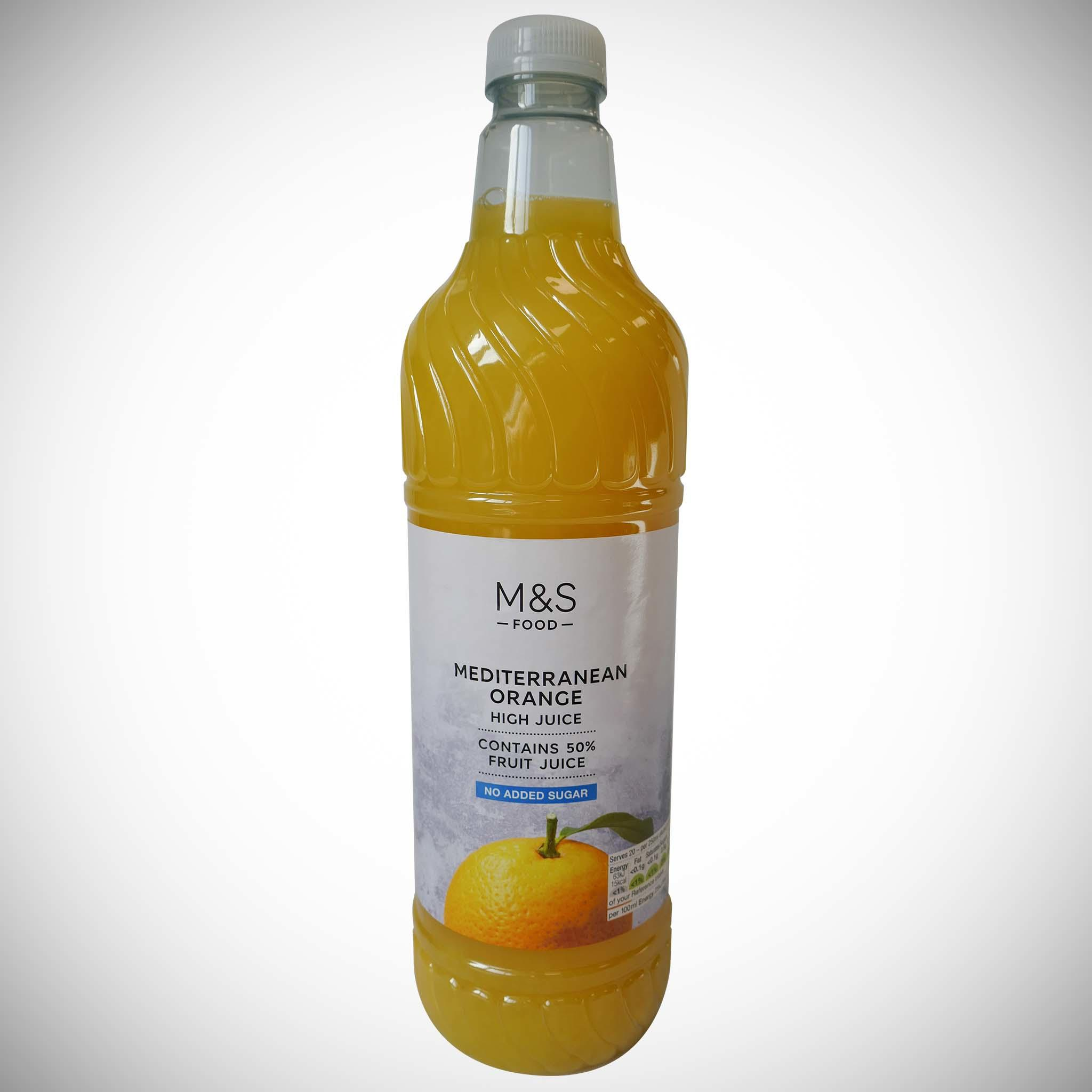 Mediterranean High Orange Juice (No Added Sugar) 1l