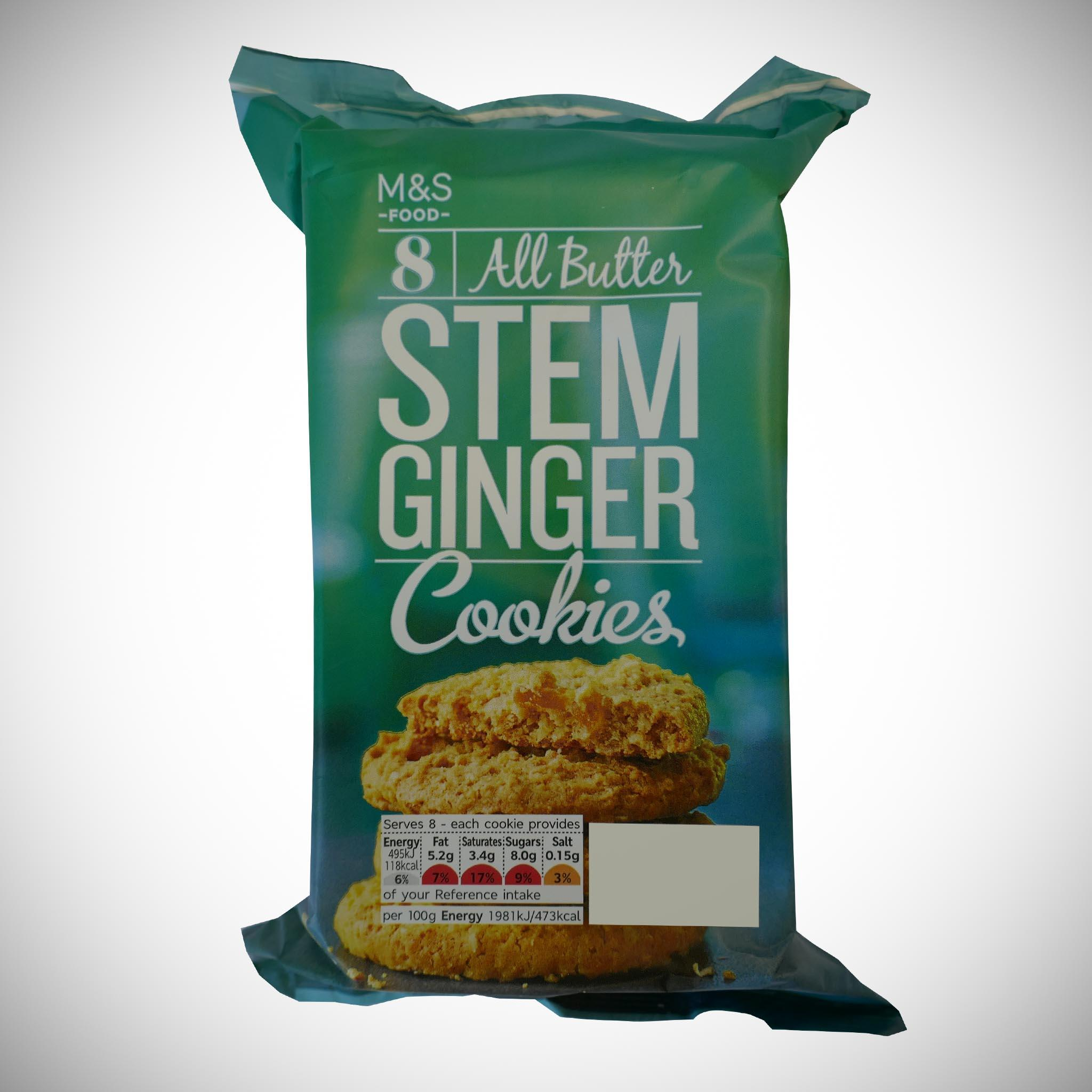All Butter Stem Ginger Cookies 200g