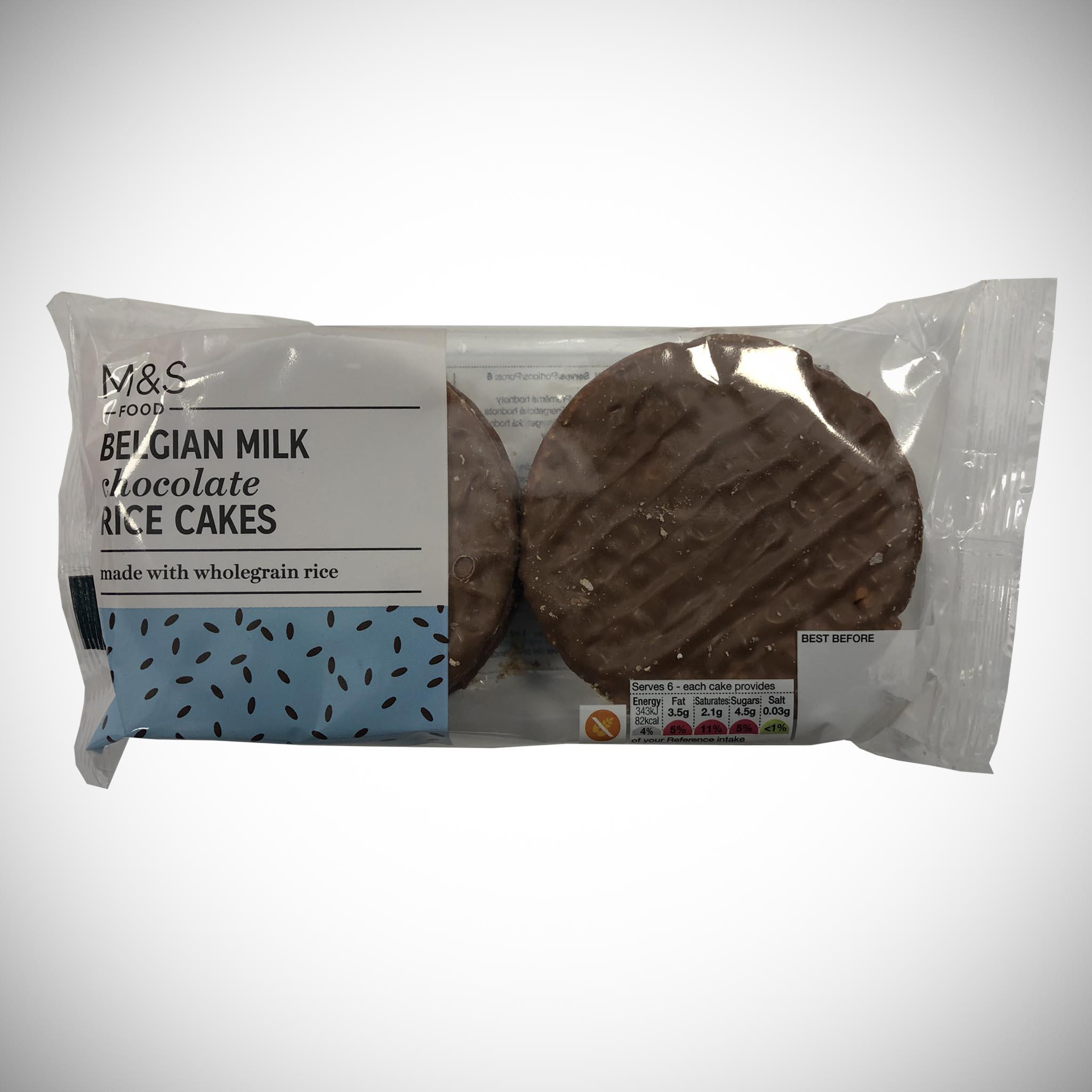 Belgian Milk Chocolate Rice Cakes 102g