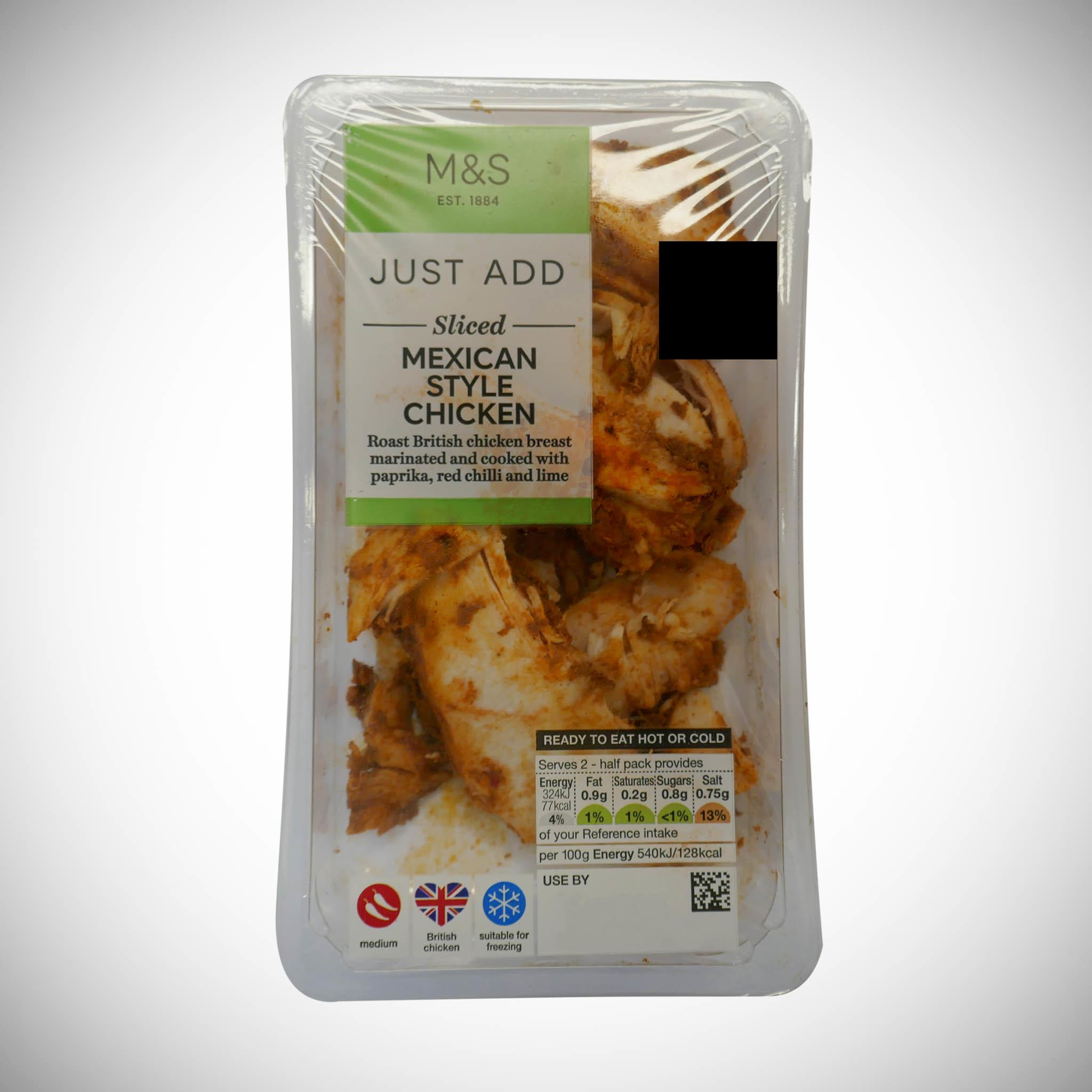 Just Add Sliced Mexican Chilli Chicken