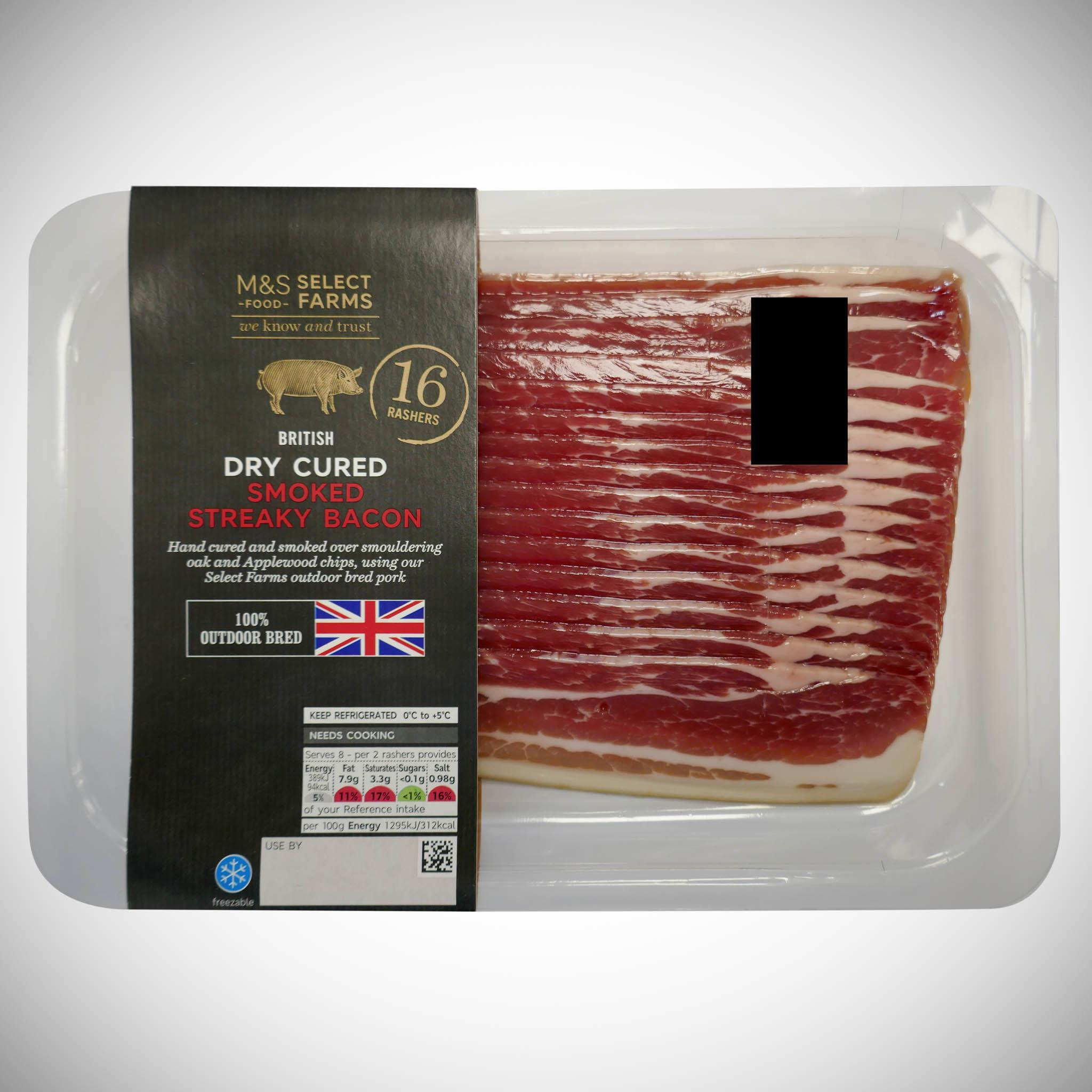 Outdoor Bred Smoked Streaky Bacon 240g