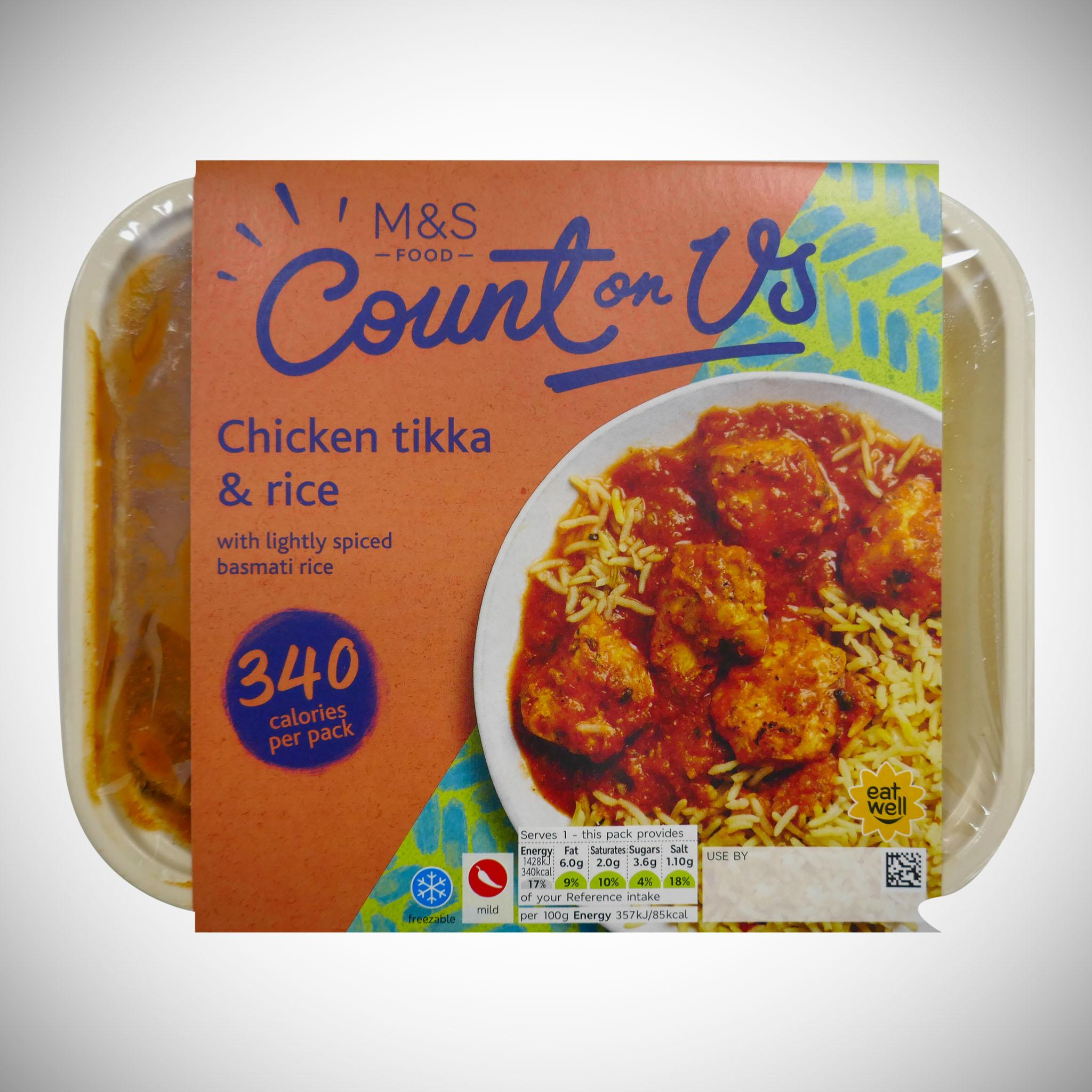 Count On Us... Chicken Tikka & Rice 400g