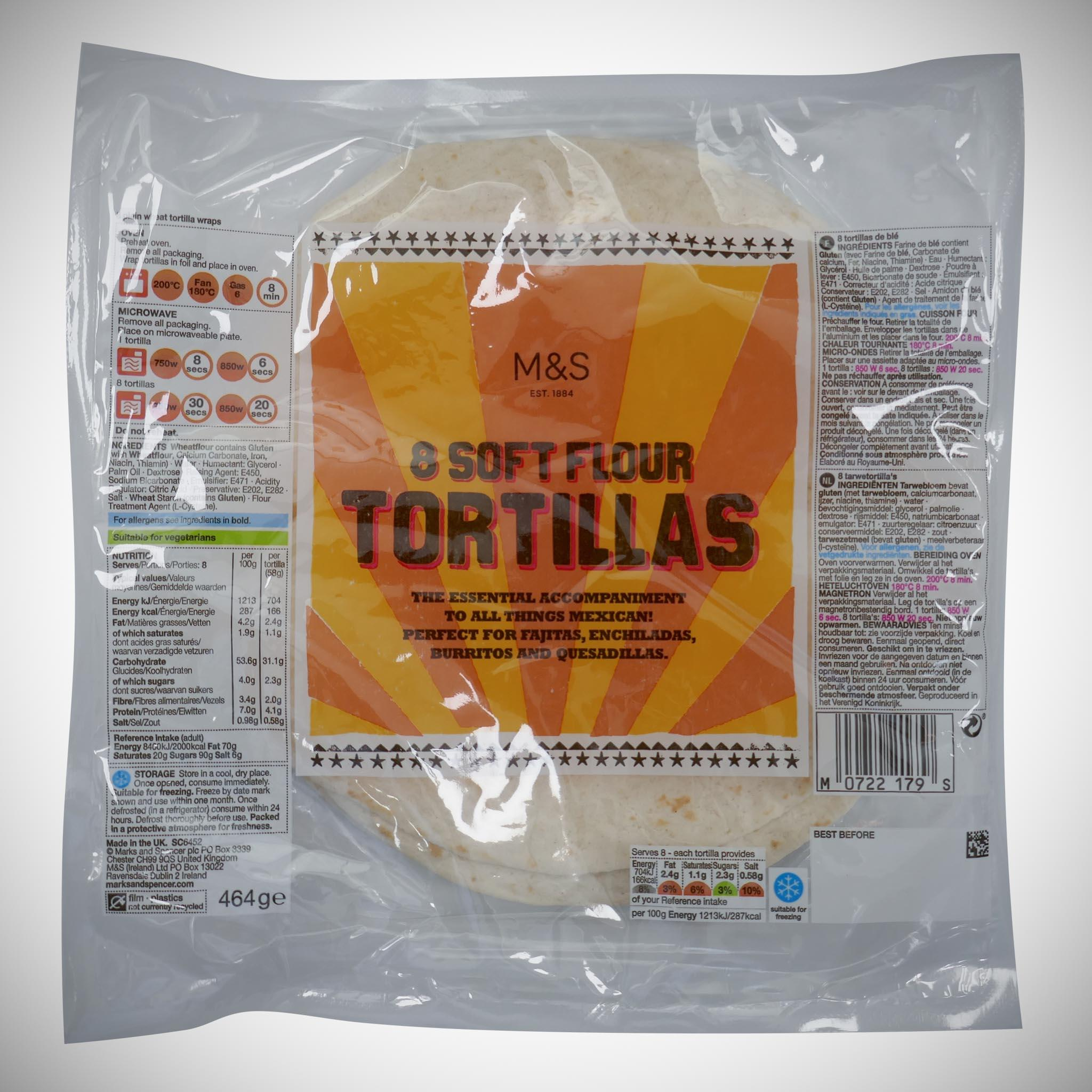 8 Flour Tortillas 464g