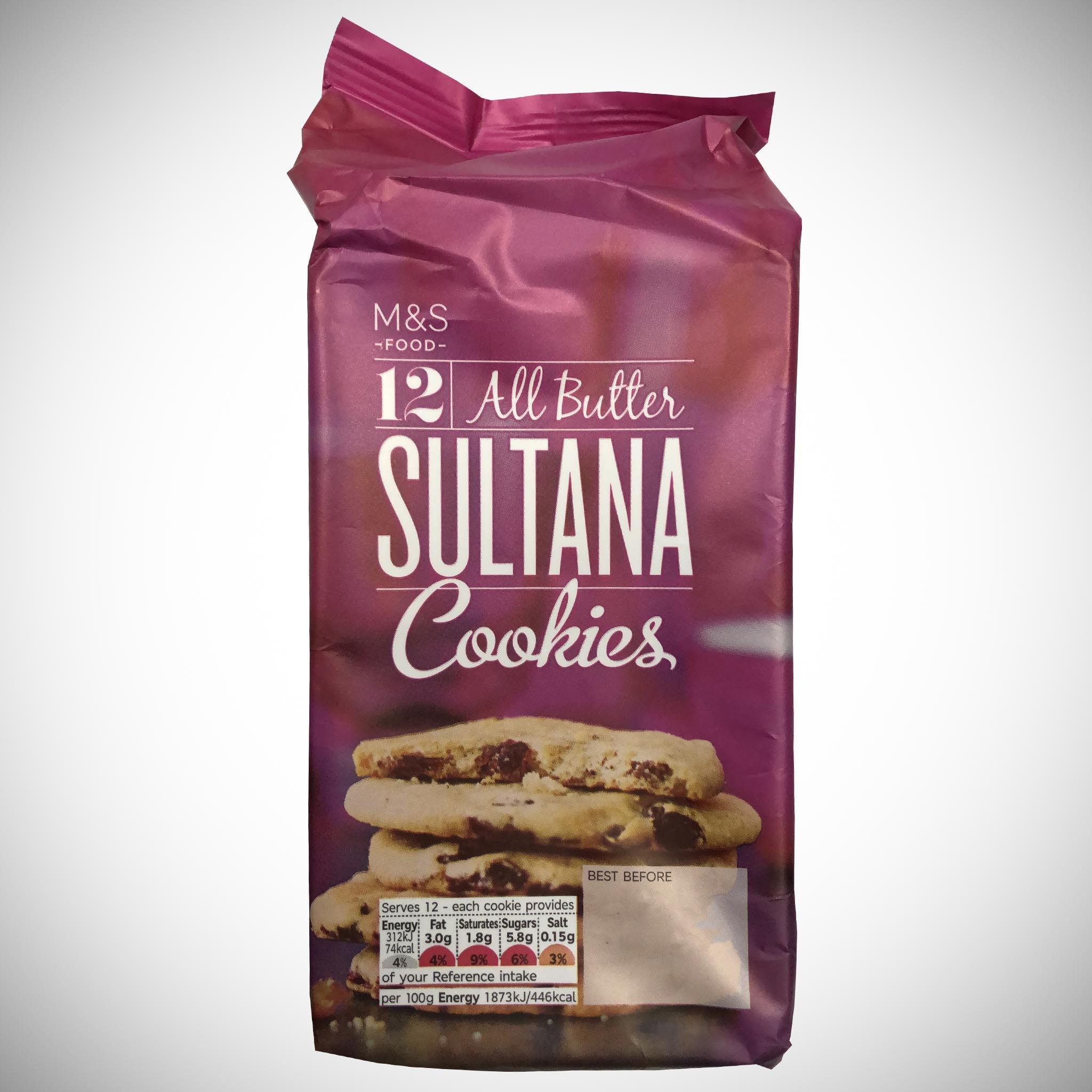 12 All Butter Sultana Cookies 200g
