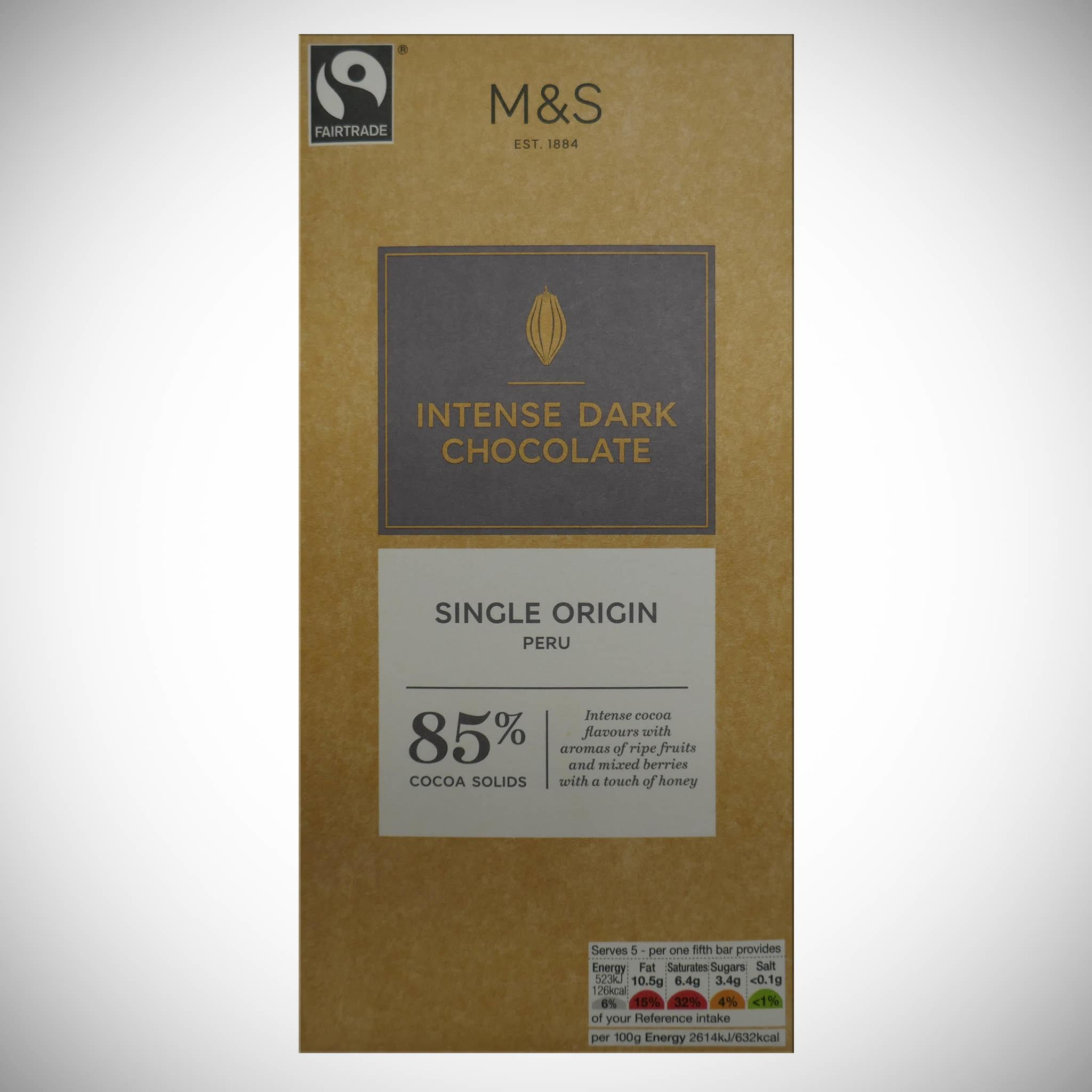 Intense Dark Chocolate 85% 100g