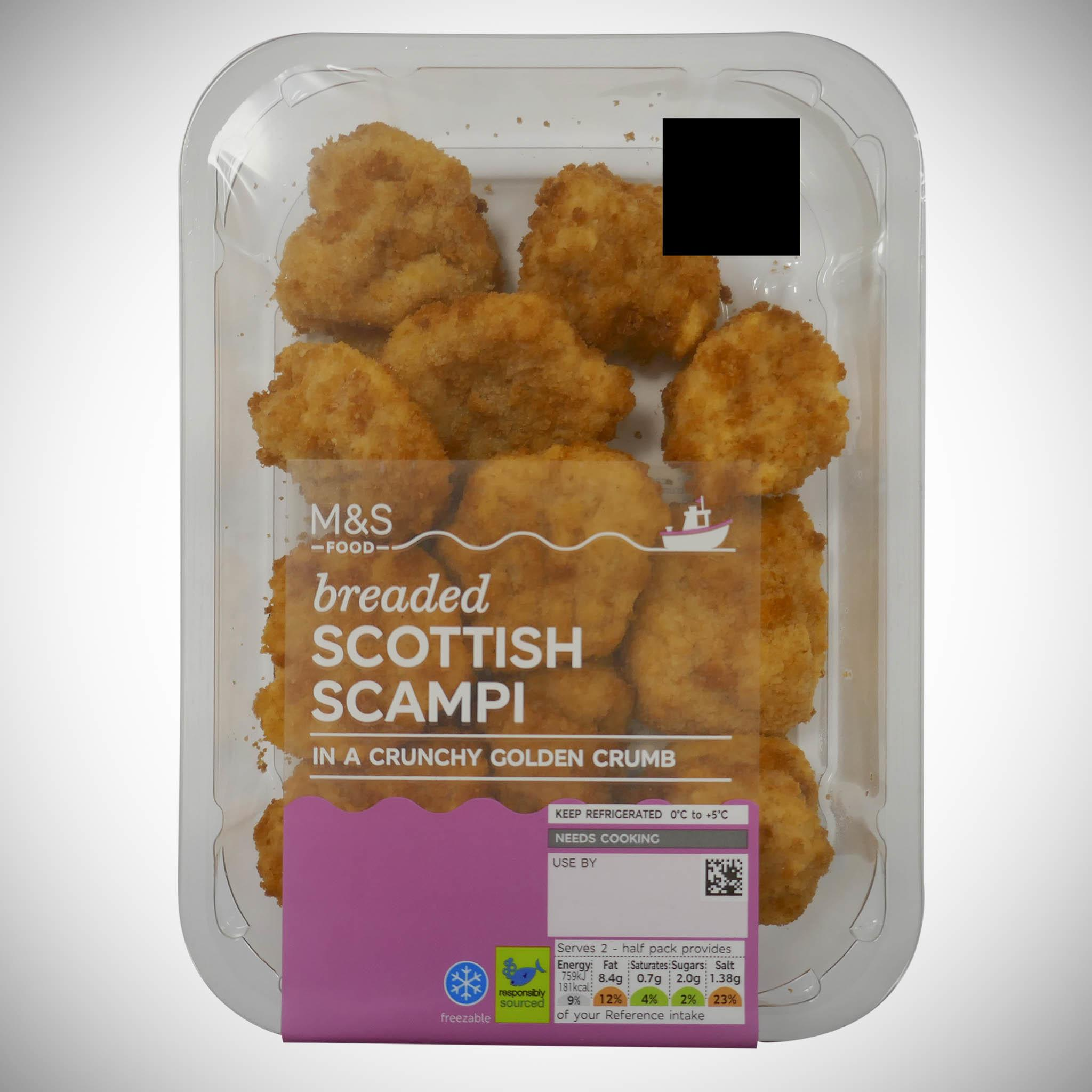 Breaded Wholetail Scampi 200g