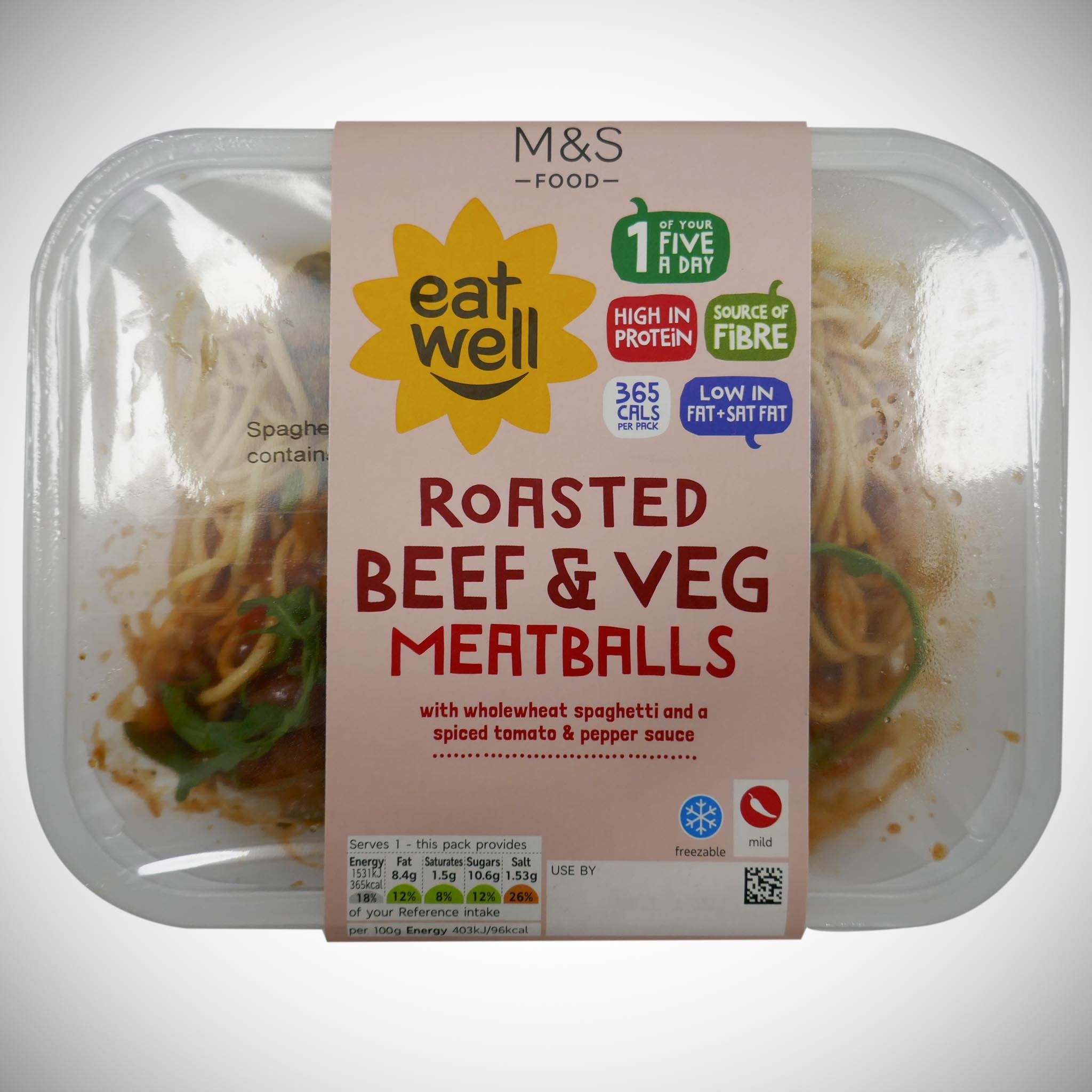 'Eat Well' Roasted Beef & Vegetable Meatballs 380g
