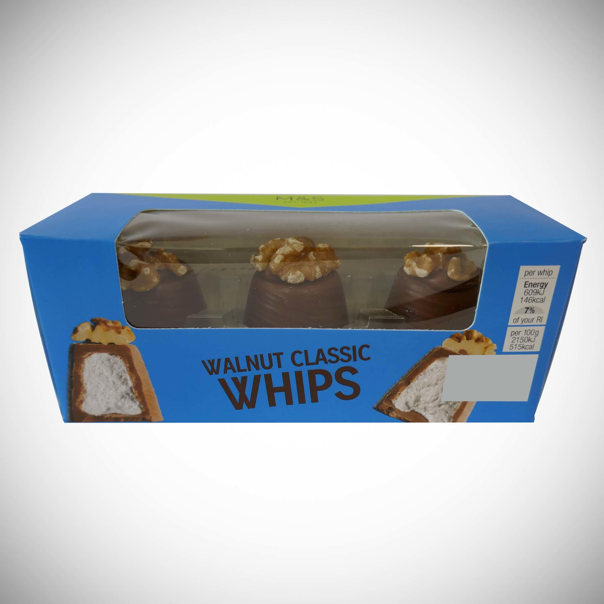 Walnut Classic Whips 85g