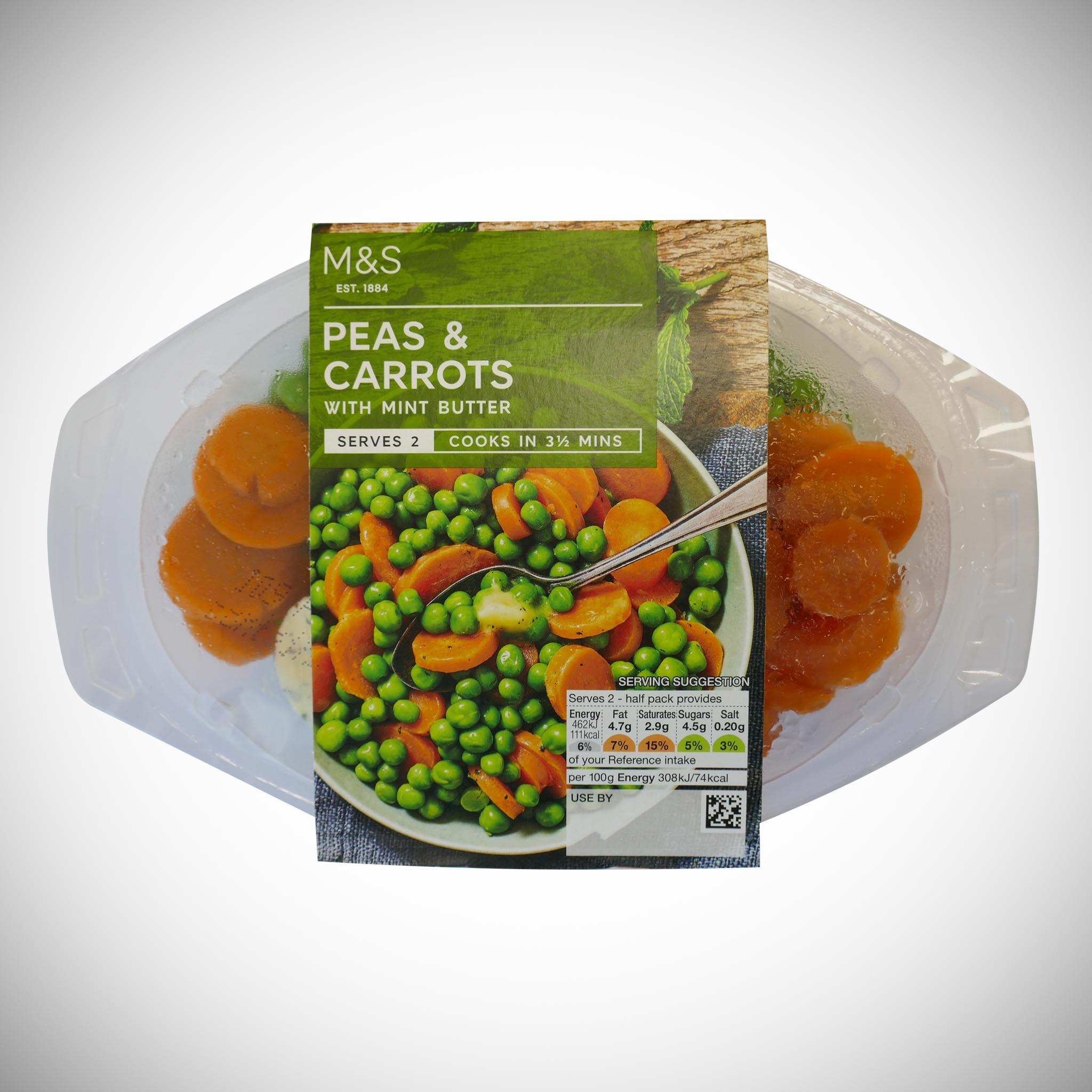 Peas & Carrots with Mint Butter 300g