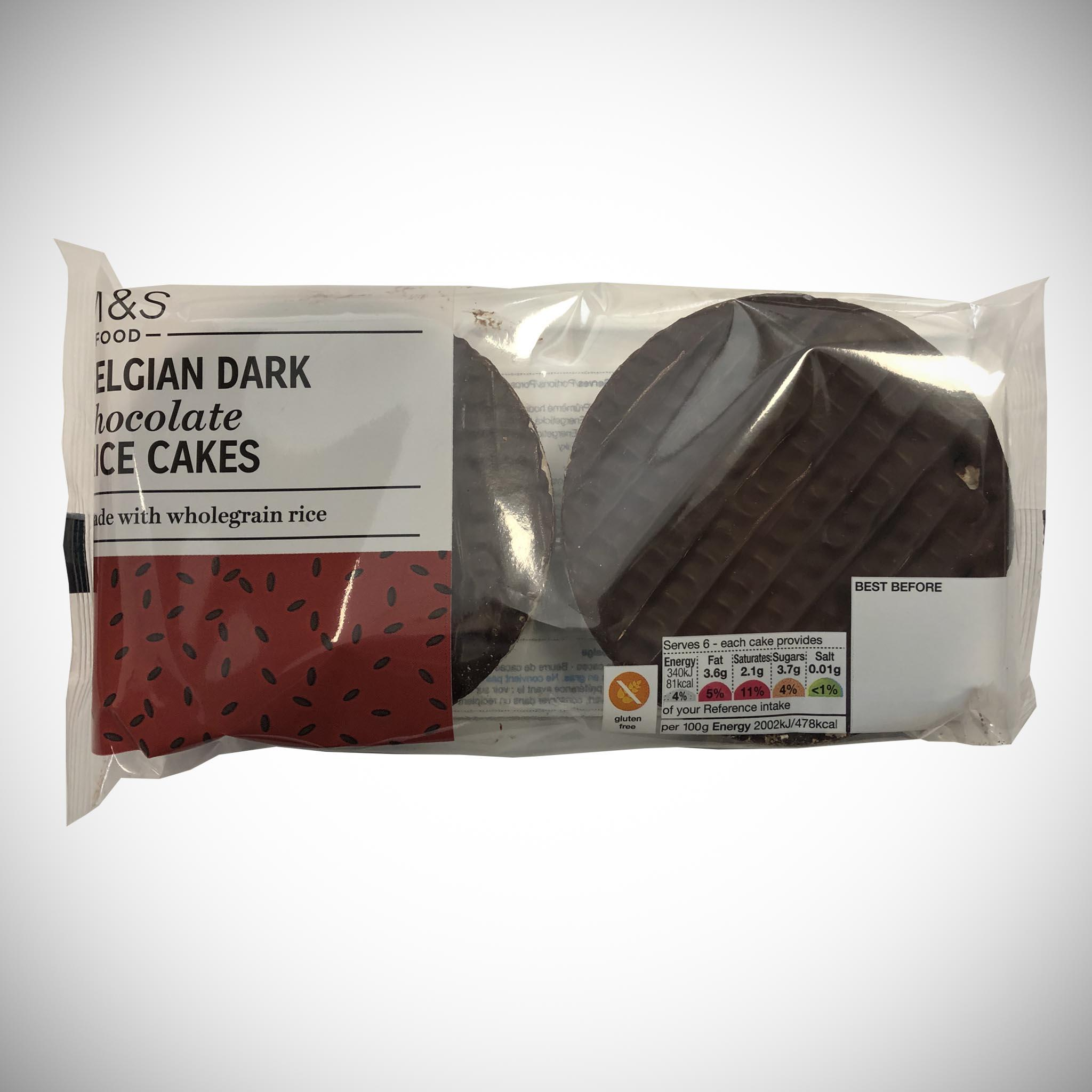 Belgian Dark Chocolate Rice Cakes 102g