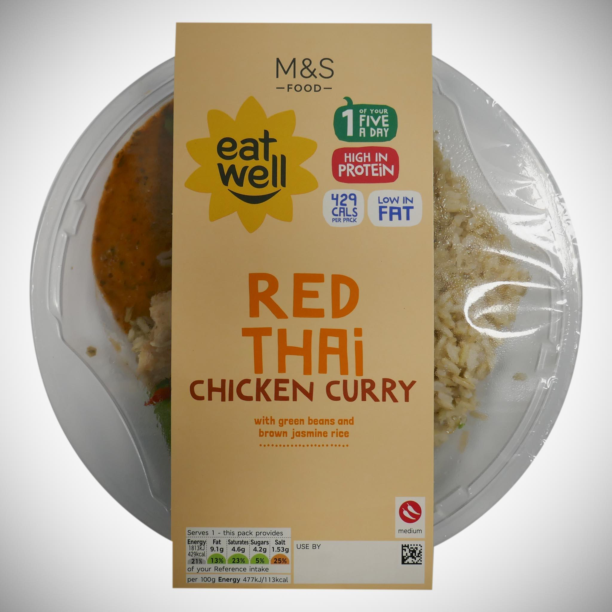 'Eat Well' Red Thai Chicken Curry 380g