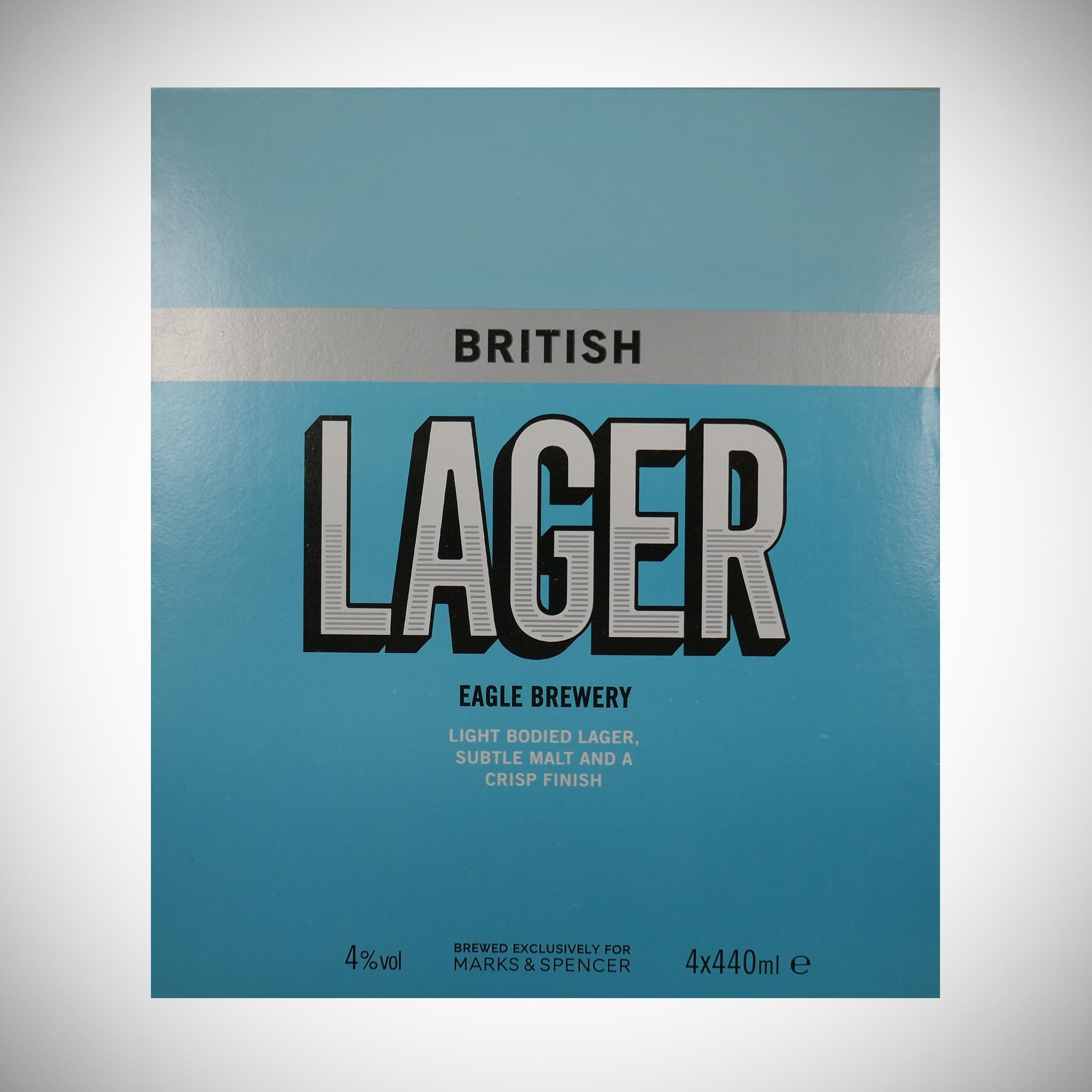British Lager 4 x 400ml
