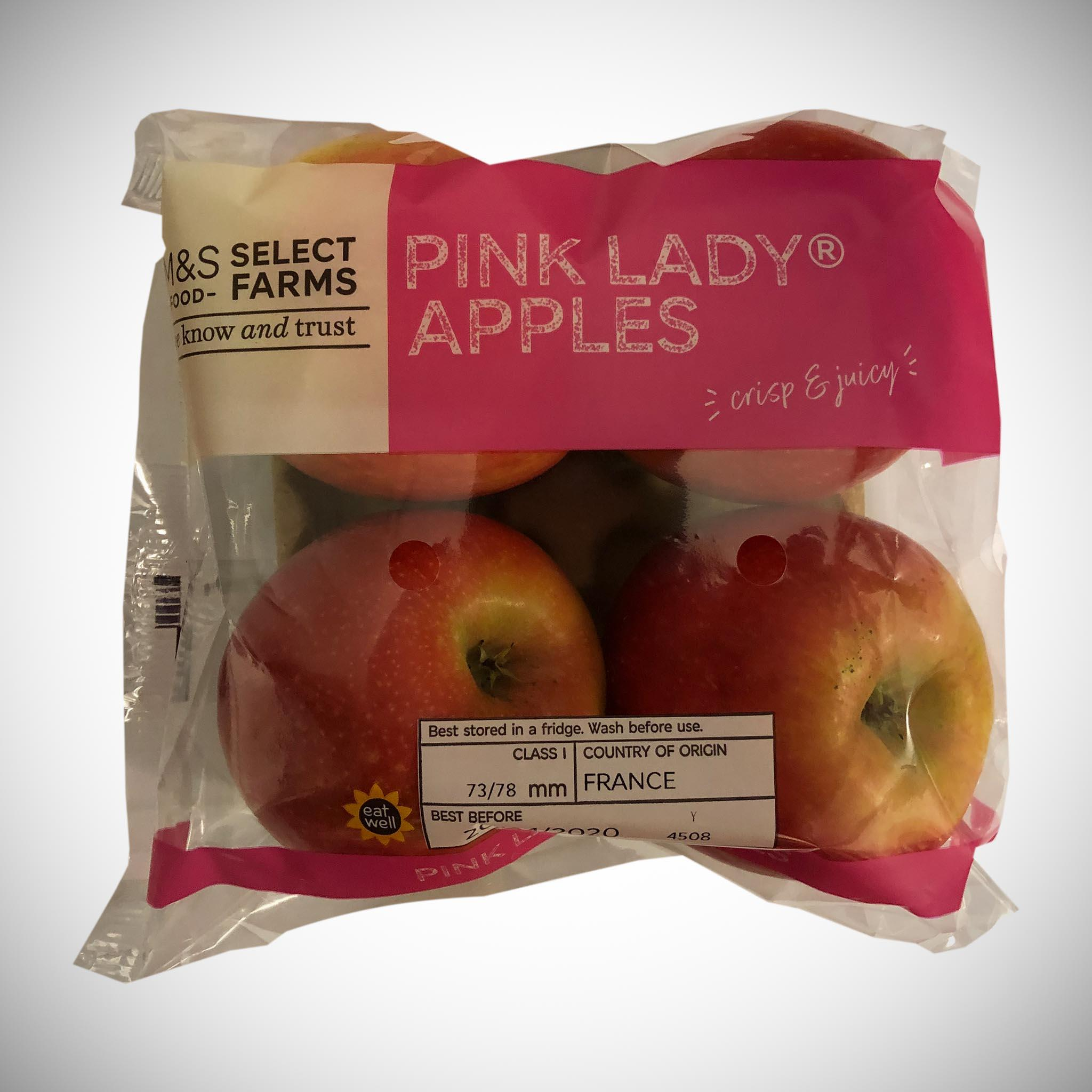 Pink Lady Apples x 4