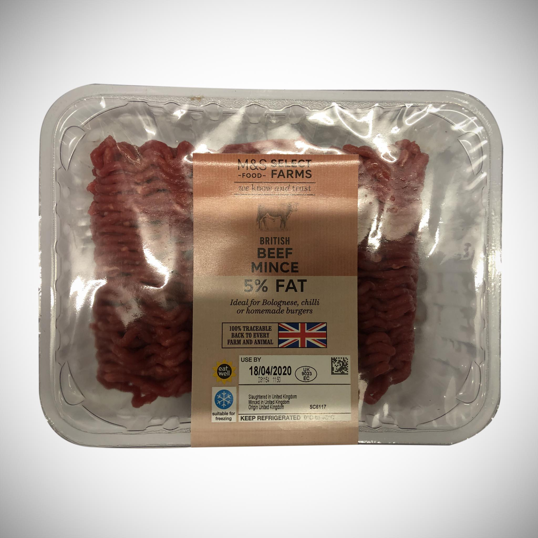 5% Fat Beef Mince 500g
