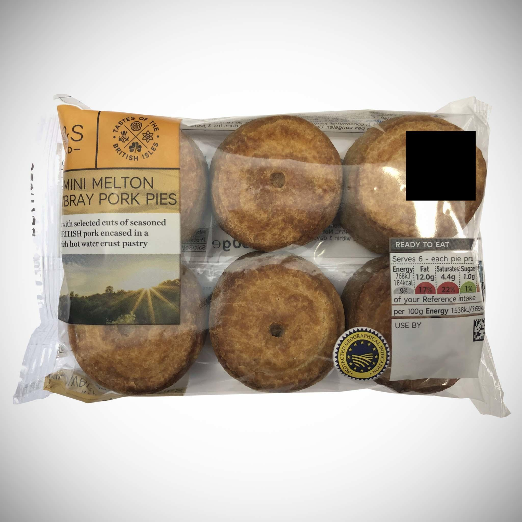 6 Melton Mowbray Pork Pies
