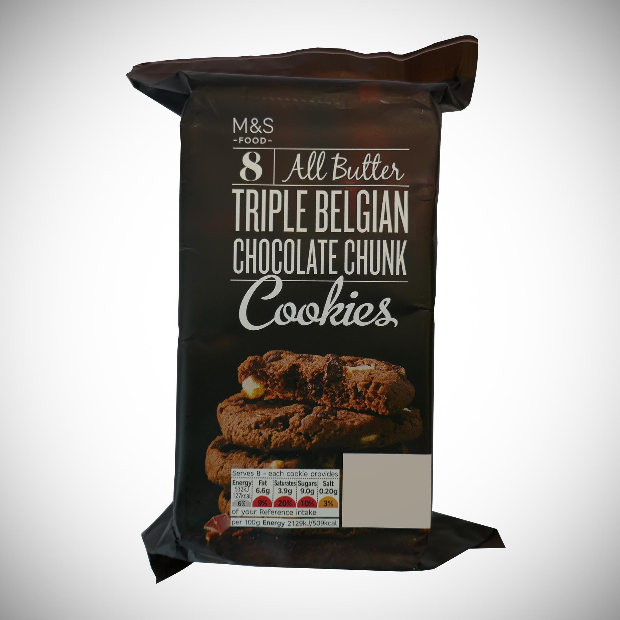 8 All Butter Triple Belgian Chocolate Cookies 200g