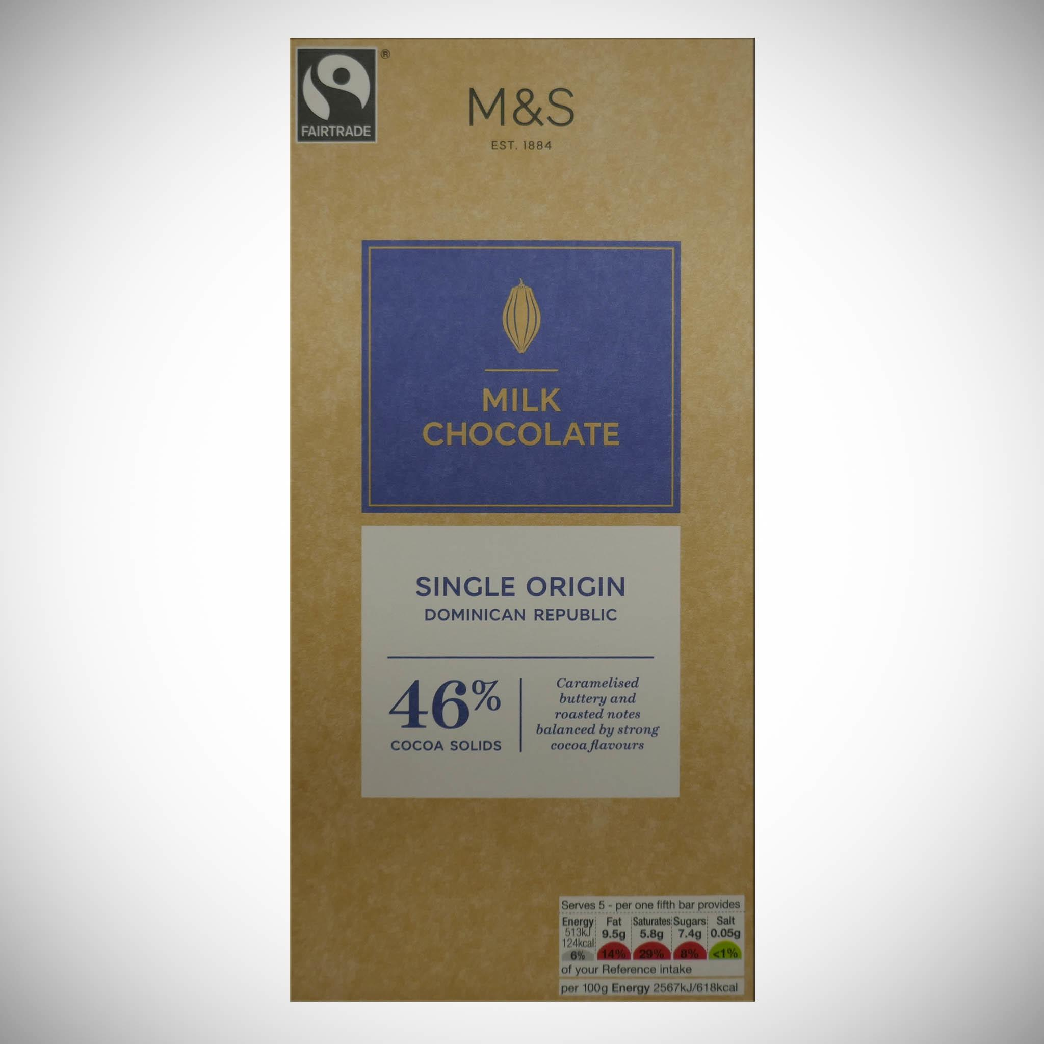 Milk Chocolate 46% Cocoa 100g