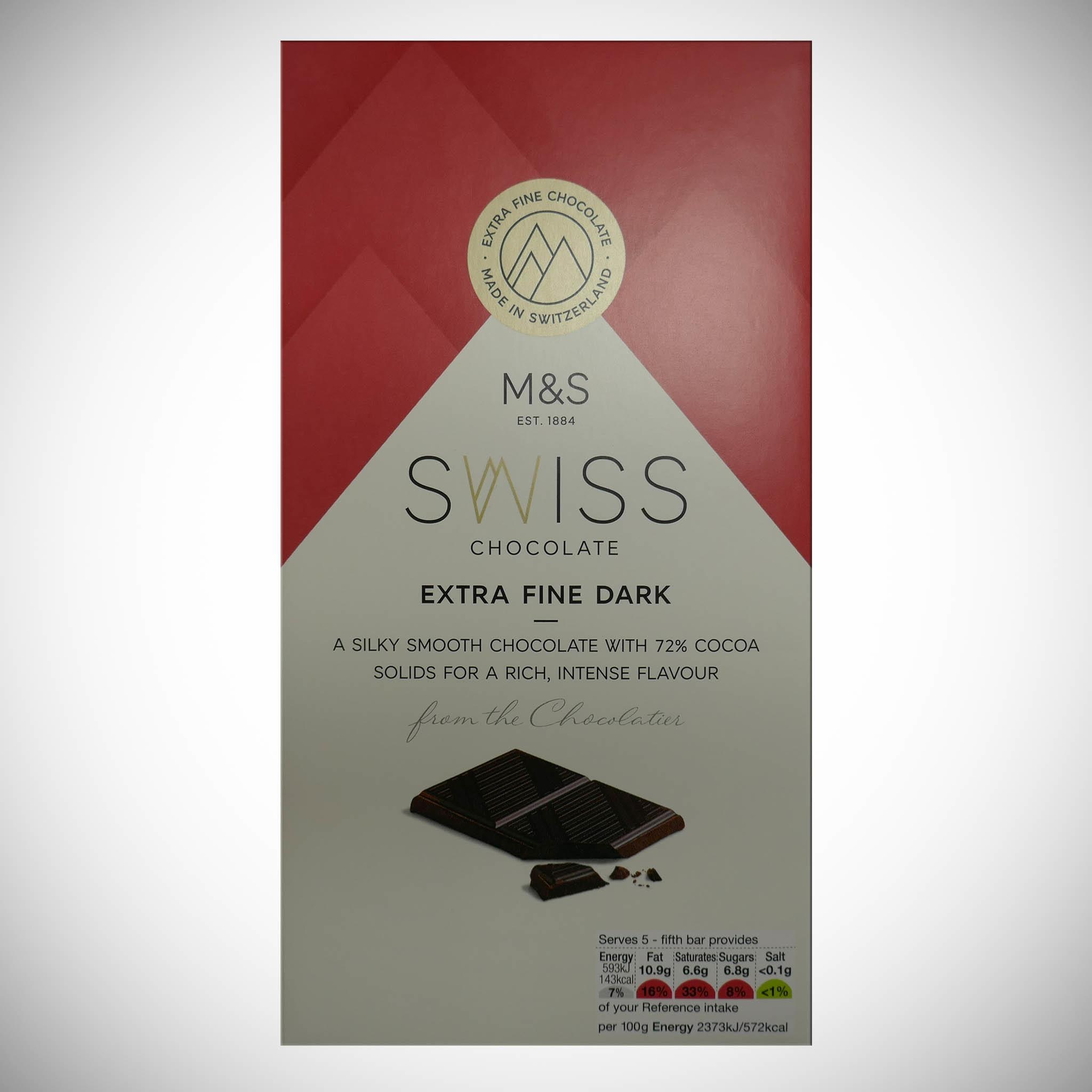 Swiss Extra Fine Dark Chocolate 125g