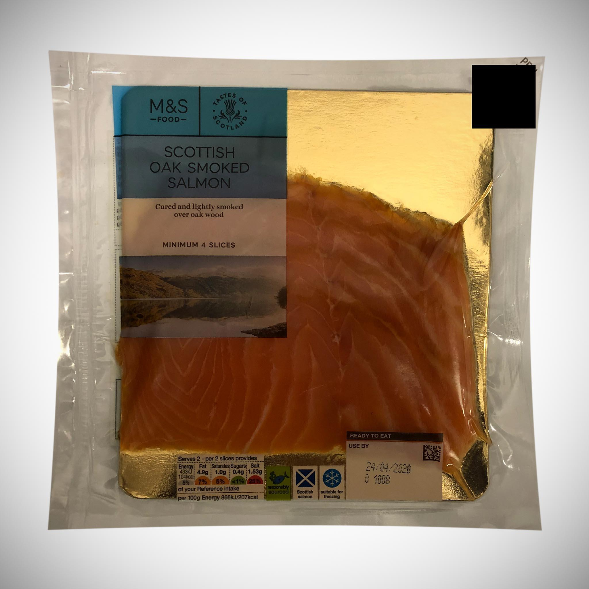 Scottish Lochmuir Oak Smoked Salmon (4 Slices)