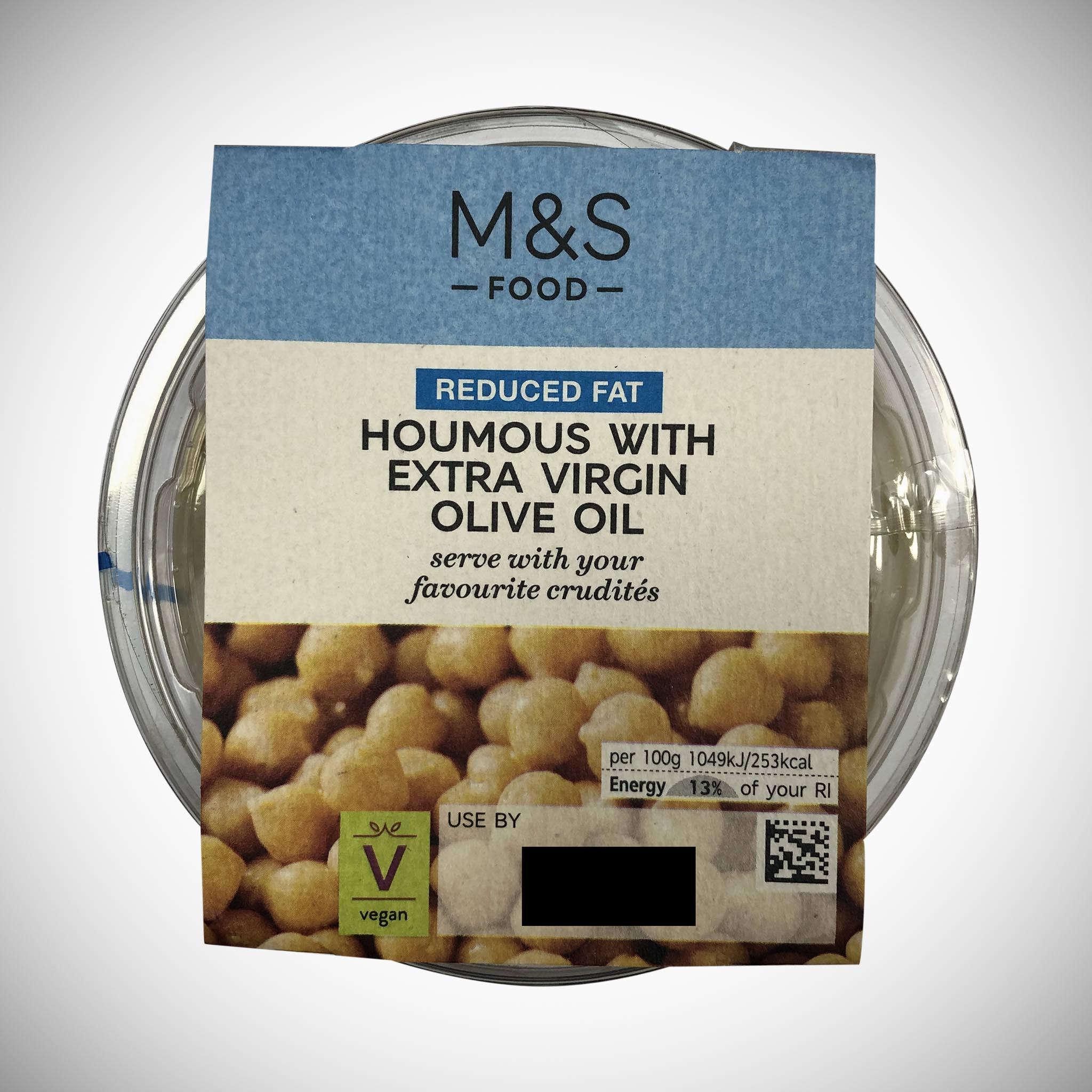 Reduced Fat Extra Virgin Olive Oil Houmous