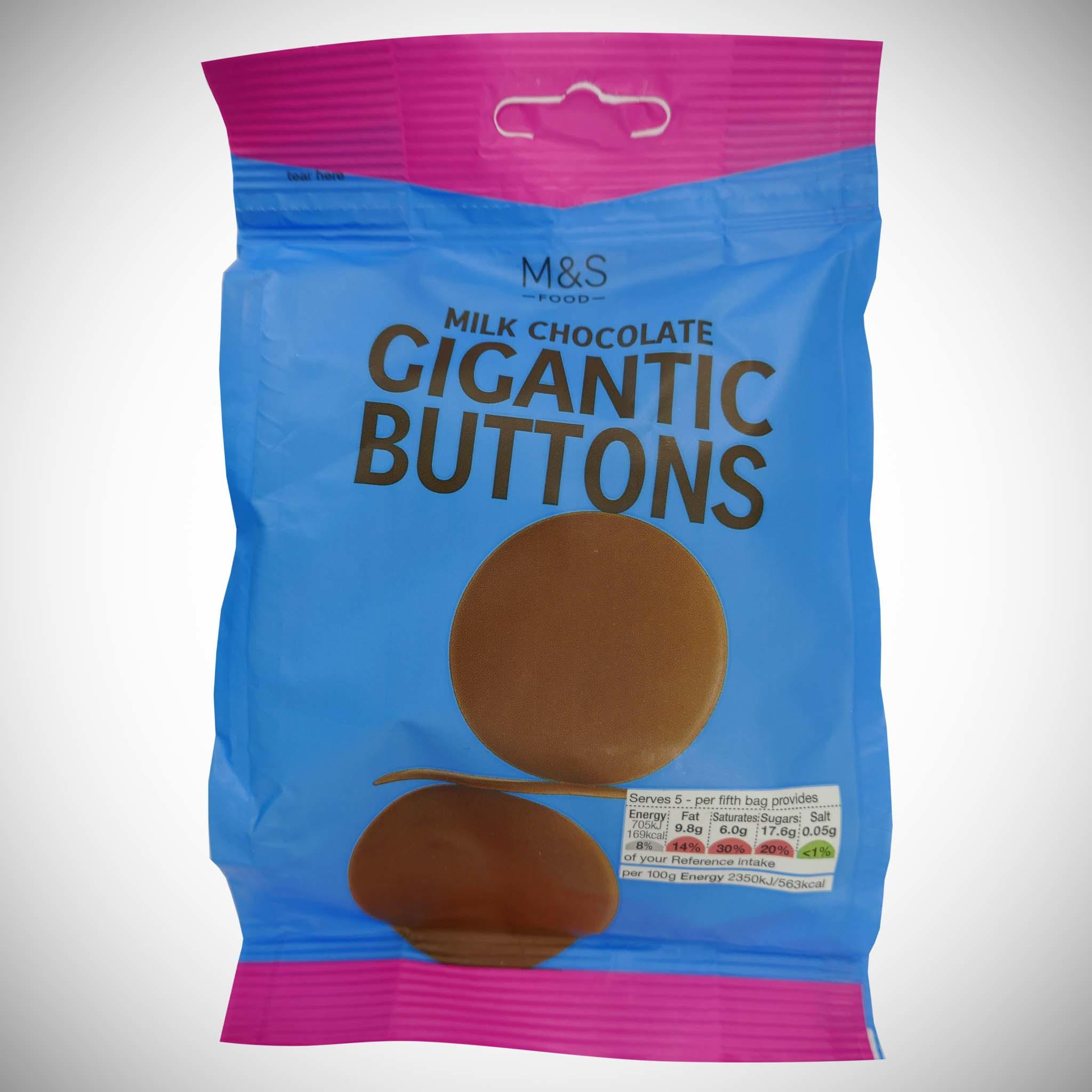 Gigantic Milk Chocolate Buttons 150g