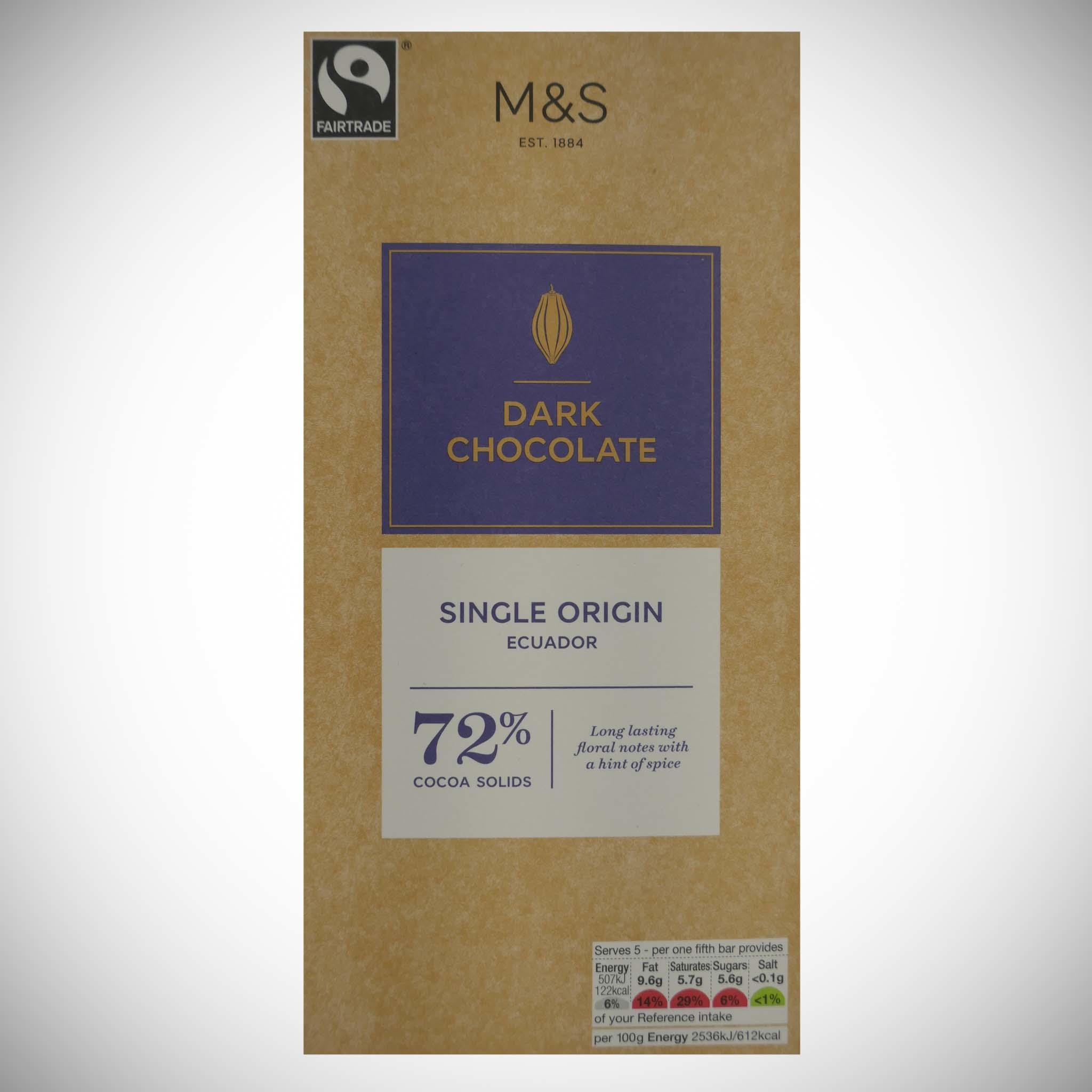 Dark Chocolate 72% 100g