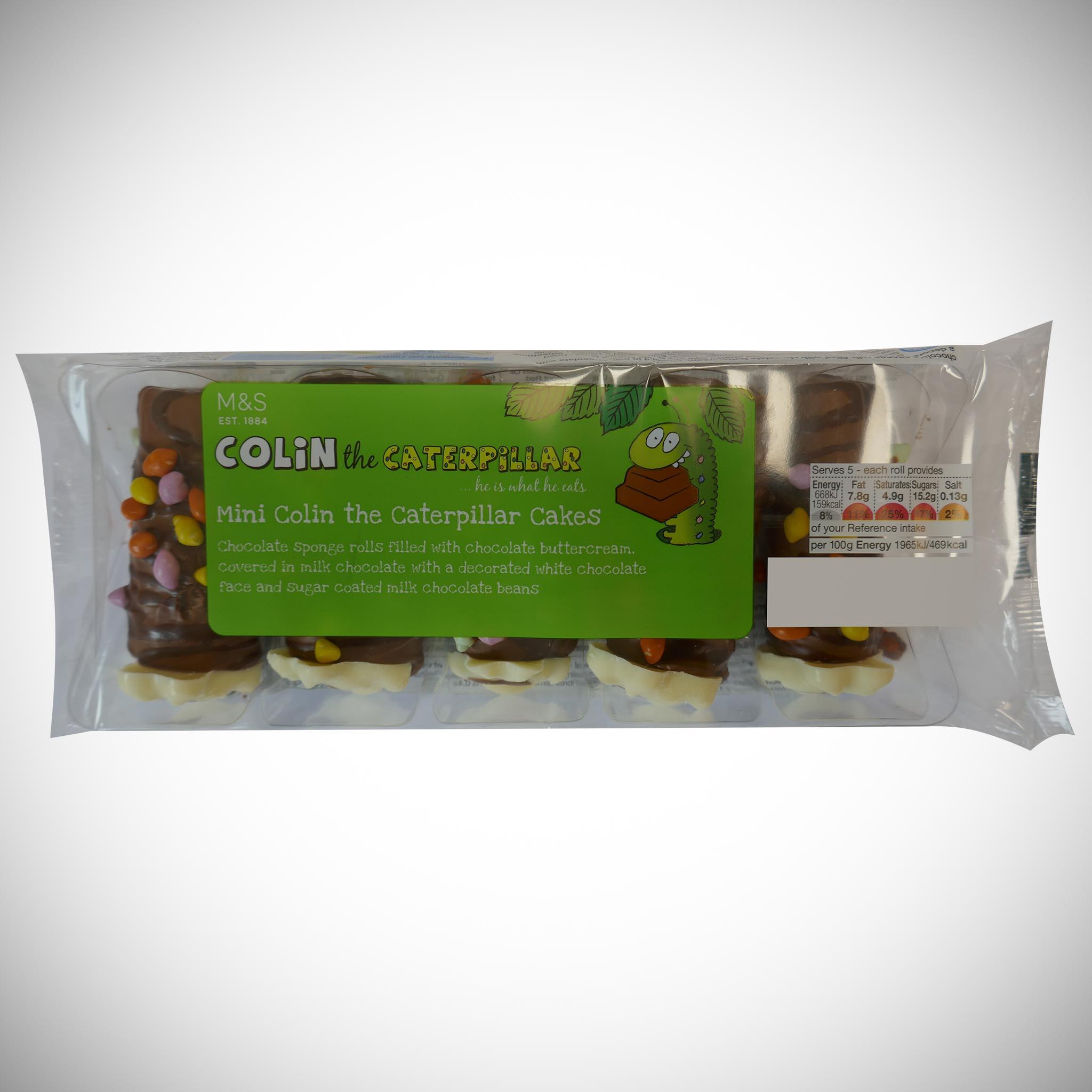 Extremely Chocolatey Colin The Caterpillar Mini Rolls x 5